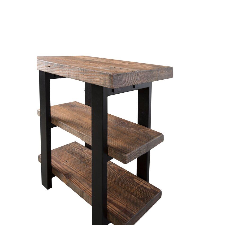 loon peak somers 2 shelf reclaimed wood metal end table reviews wayfair. Black Bedroom Furniture Sets. Home Design Ideas