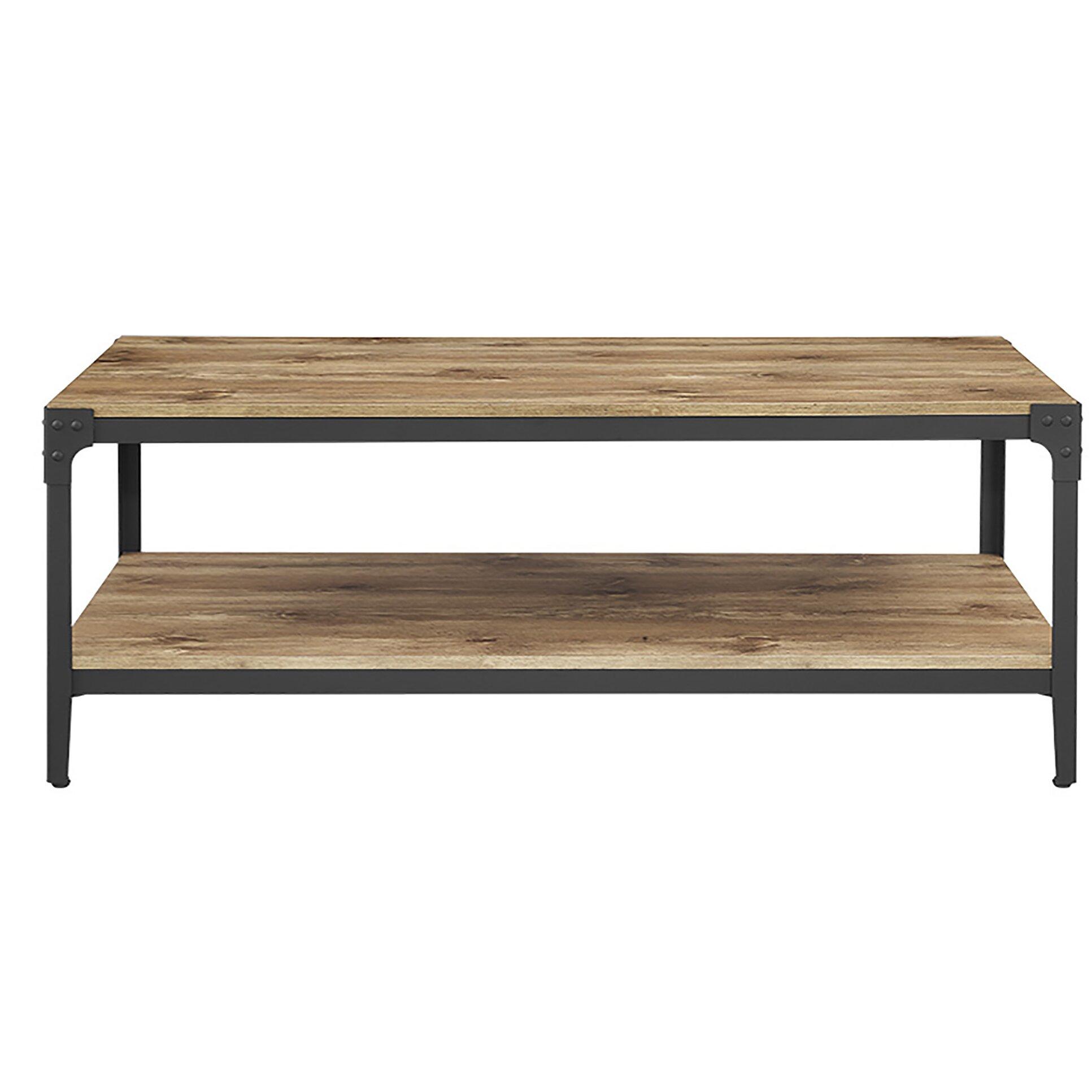 Rustic Wood And Mirror Coffee Table: Loon Peak Arboleda Rustic Wood Coffee Table & Reviews