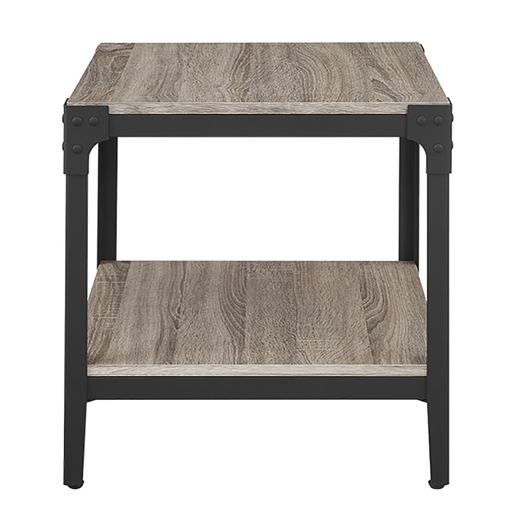 Rustic End Tables Interesting Storage For