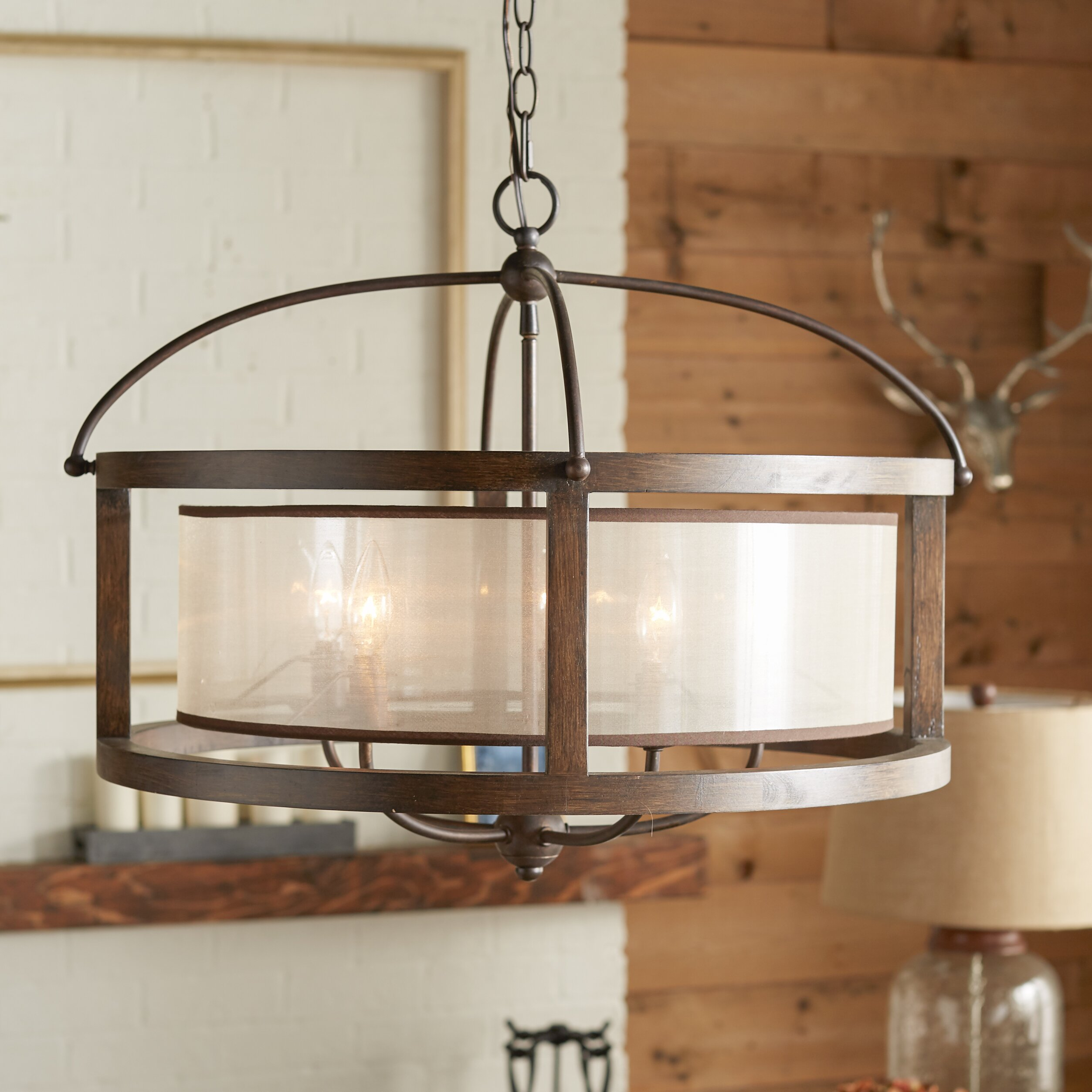 Wayfair Dining Room Lighting: Loon Peak Bundoran 5 Light Drum Chandelier & Reviews