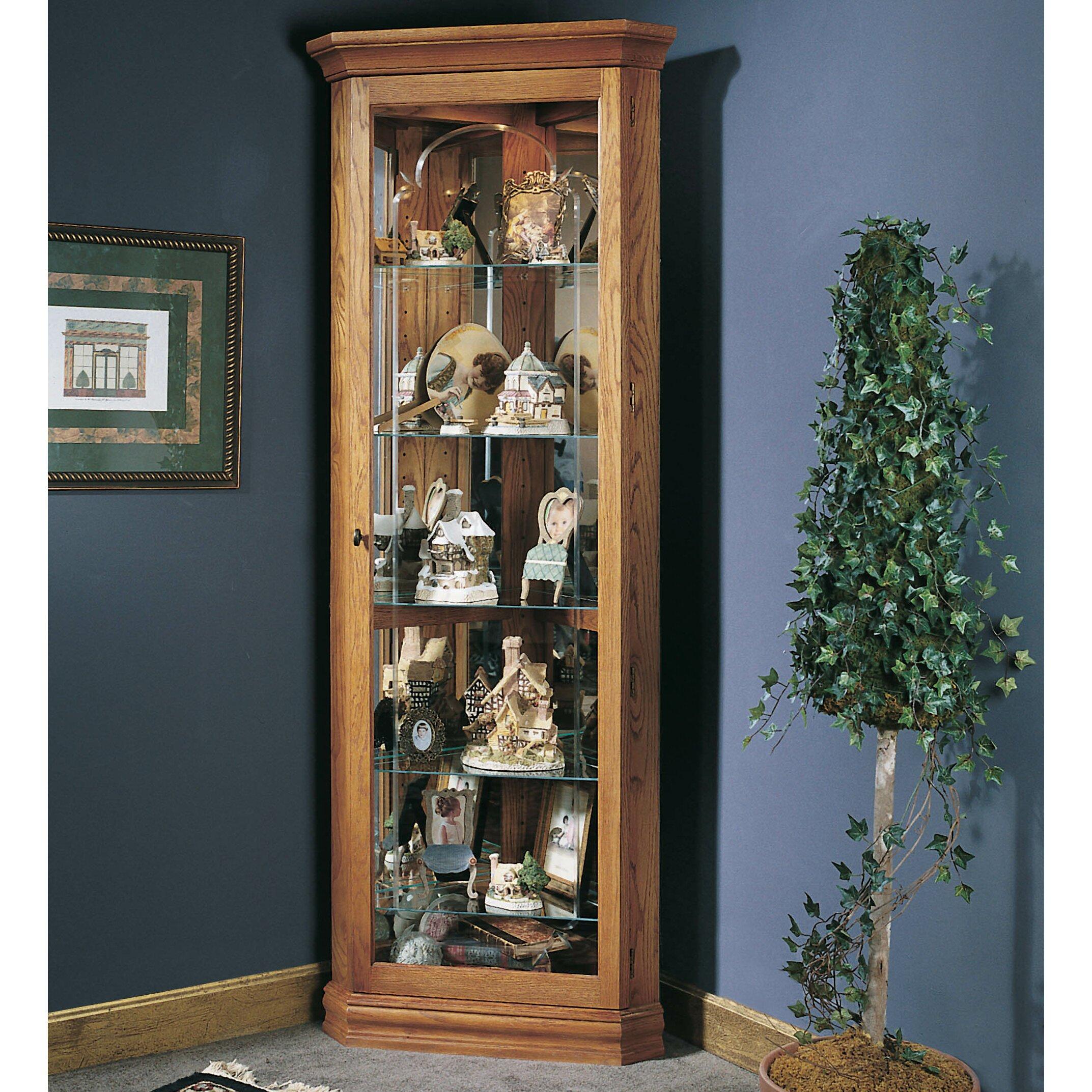 Jasper Curio Cabinet Corner Display Cabinets Youll Love Wayfair
