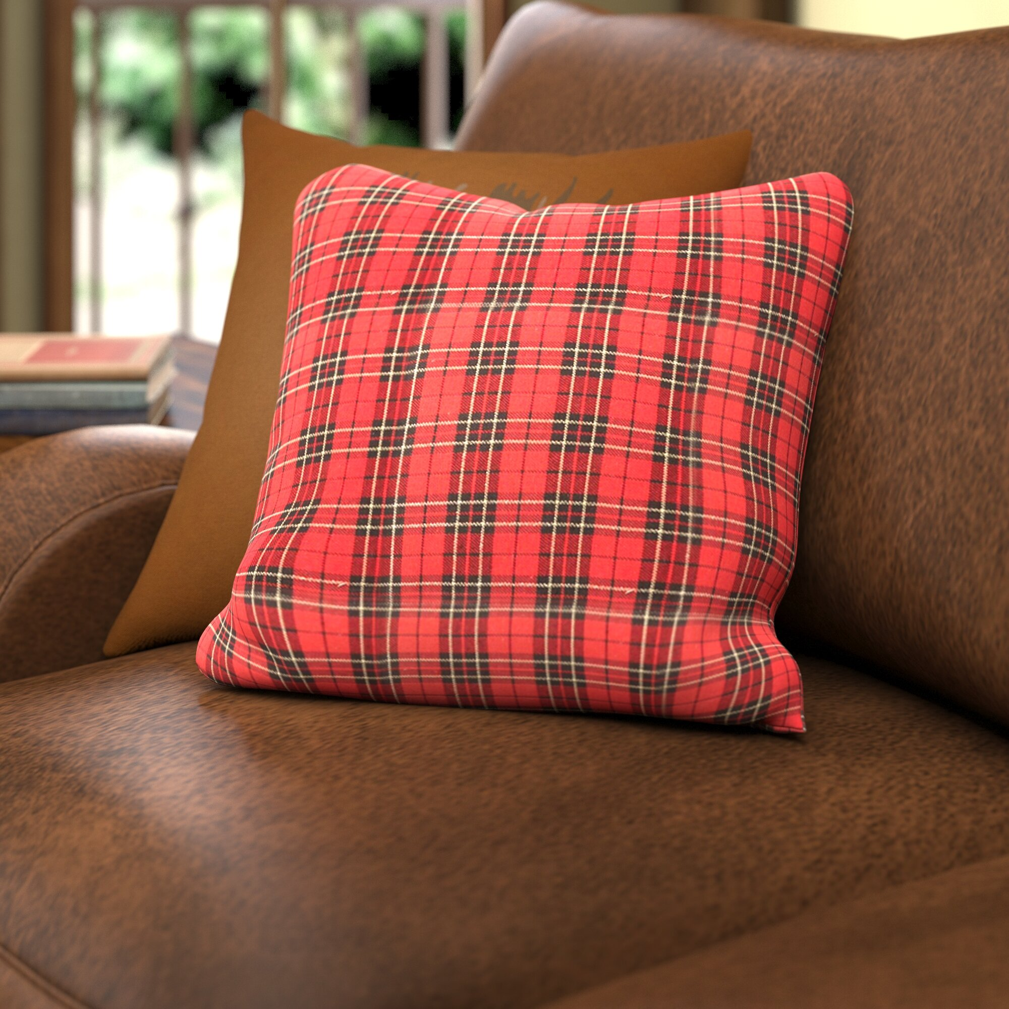 check plaid decorative pillows youll love wayfair red checke