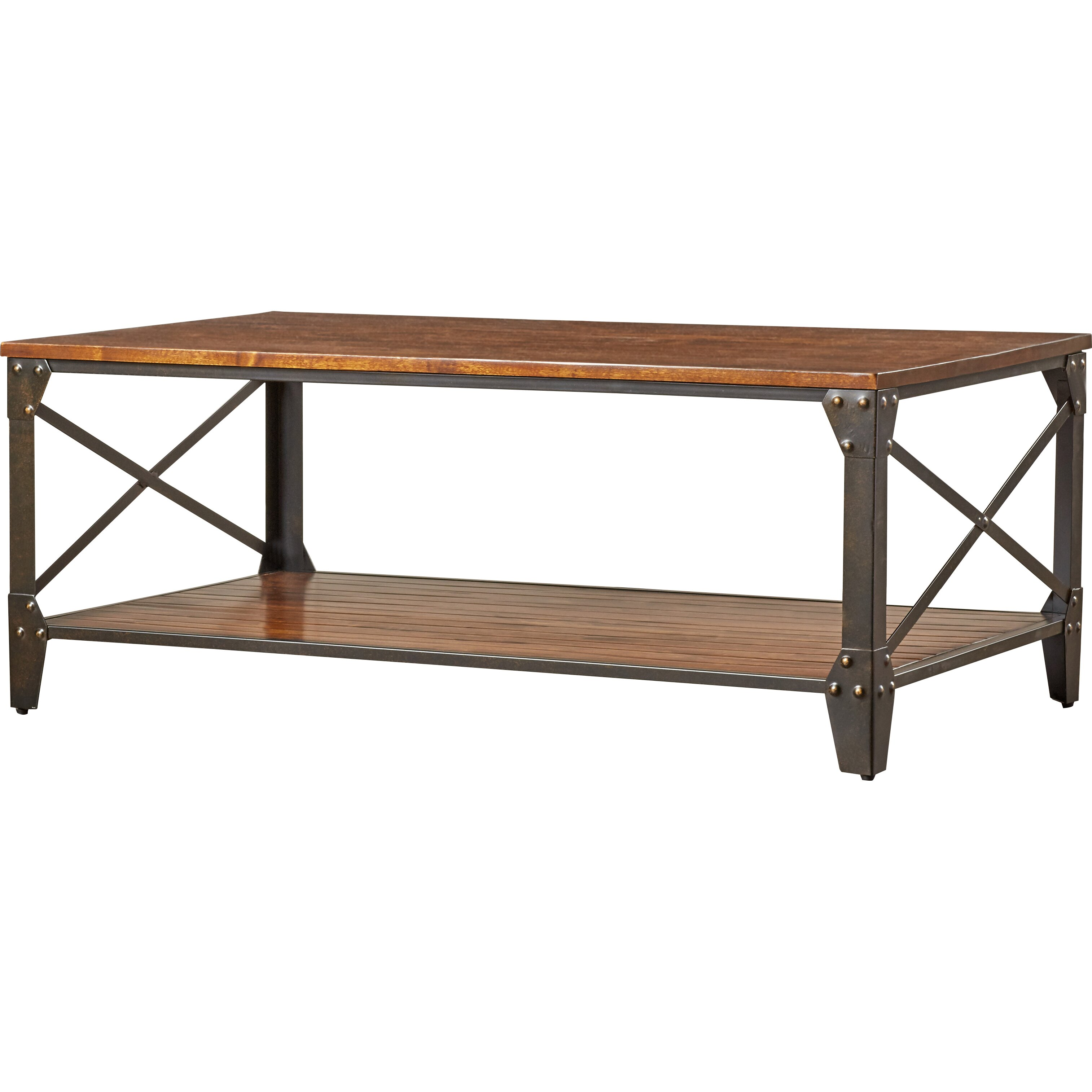 Lime Wash Coffee Table Industrial Coffee Tables Youll Love Wayfair