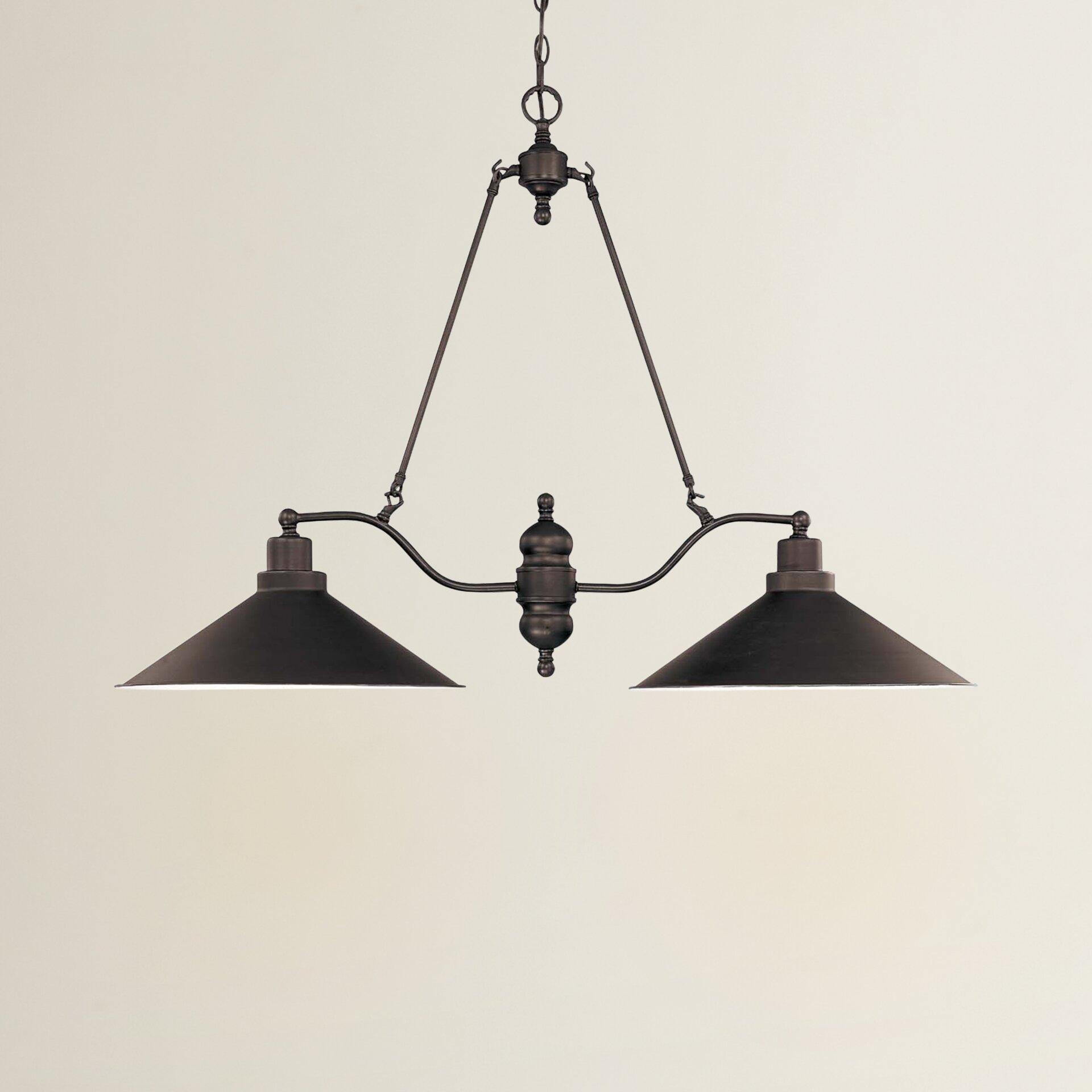 ^ rent ustin Design Schaff 2 Light Kitchen Island Pendant ...