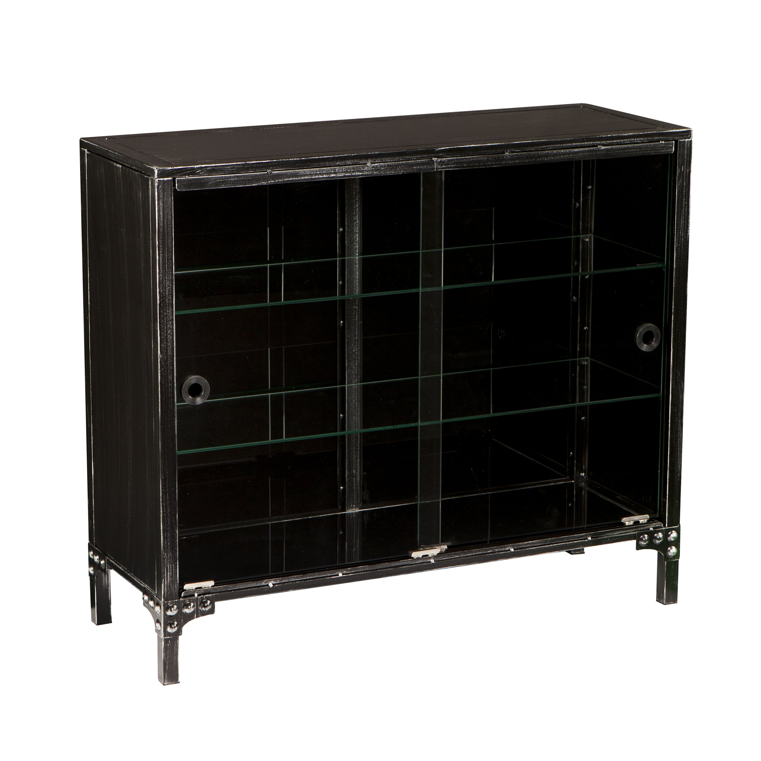 Sliding Door Dvd Cabinet Rustic Cabinets Chests Youll Love Wayfair
