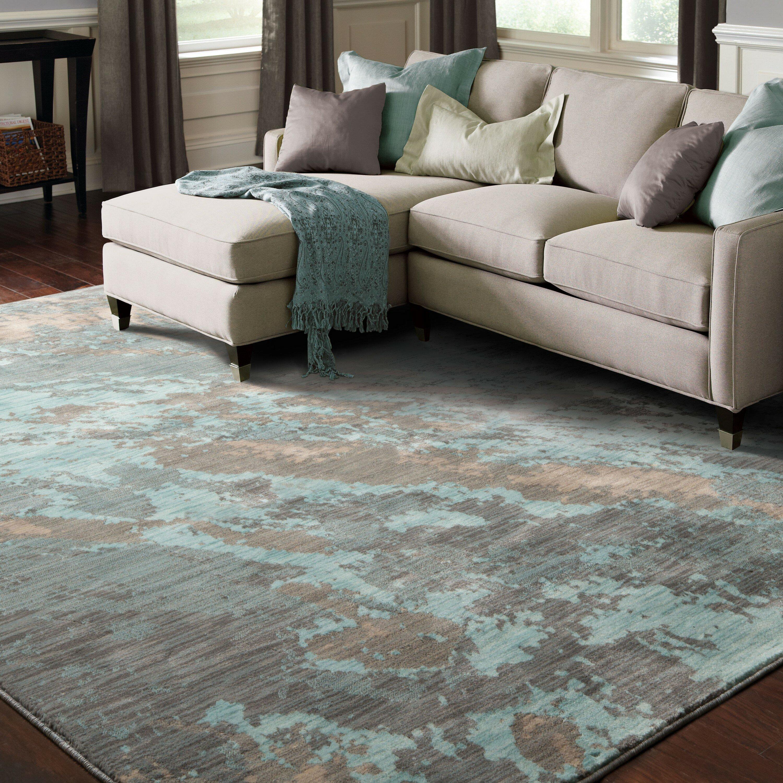 Trent austin designu0026reg modrest marble tealgray area rug