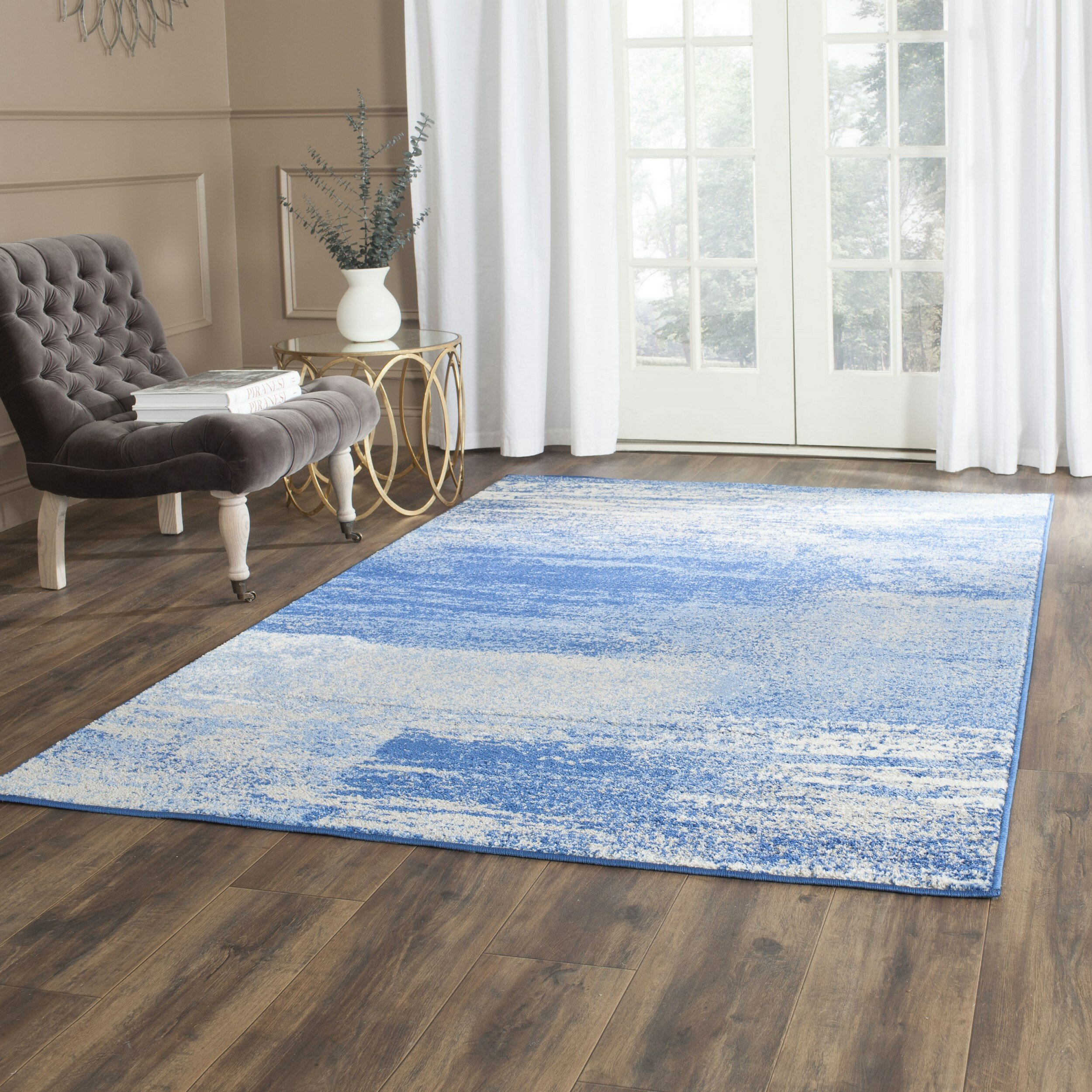 Trent austin design costa mesa silverblue area rug