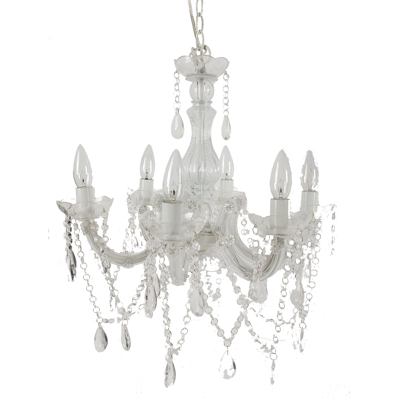 House of hampton 6 light crystal chandelier reviews for 6 light crystal chandelier