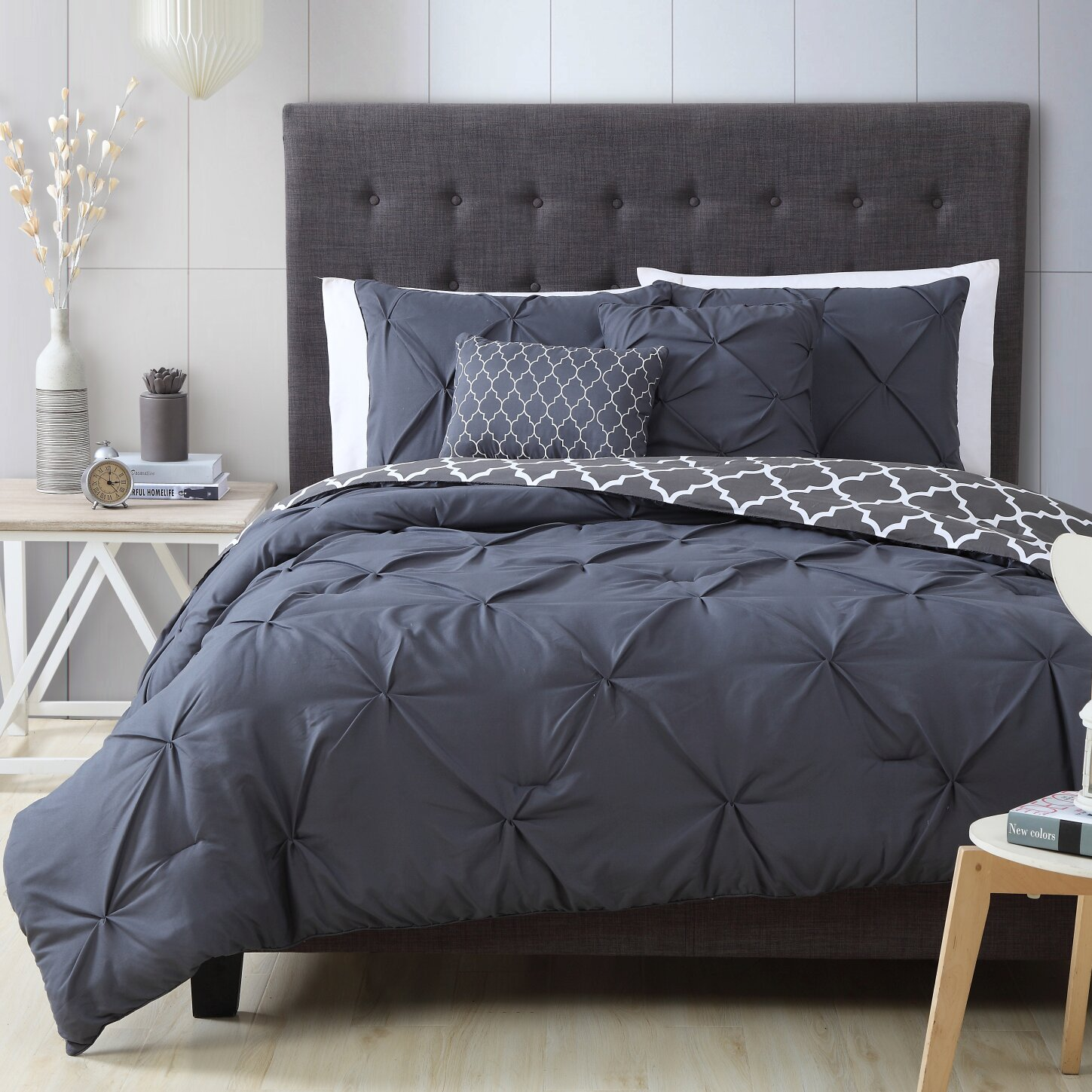 Bedding sets for women - Douglas 5 Piece Reversible Comforter Set