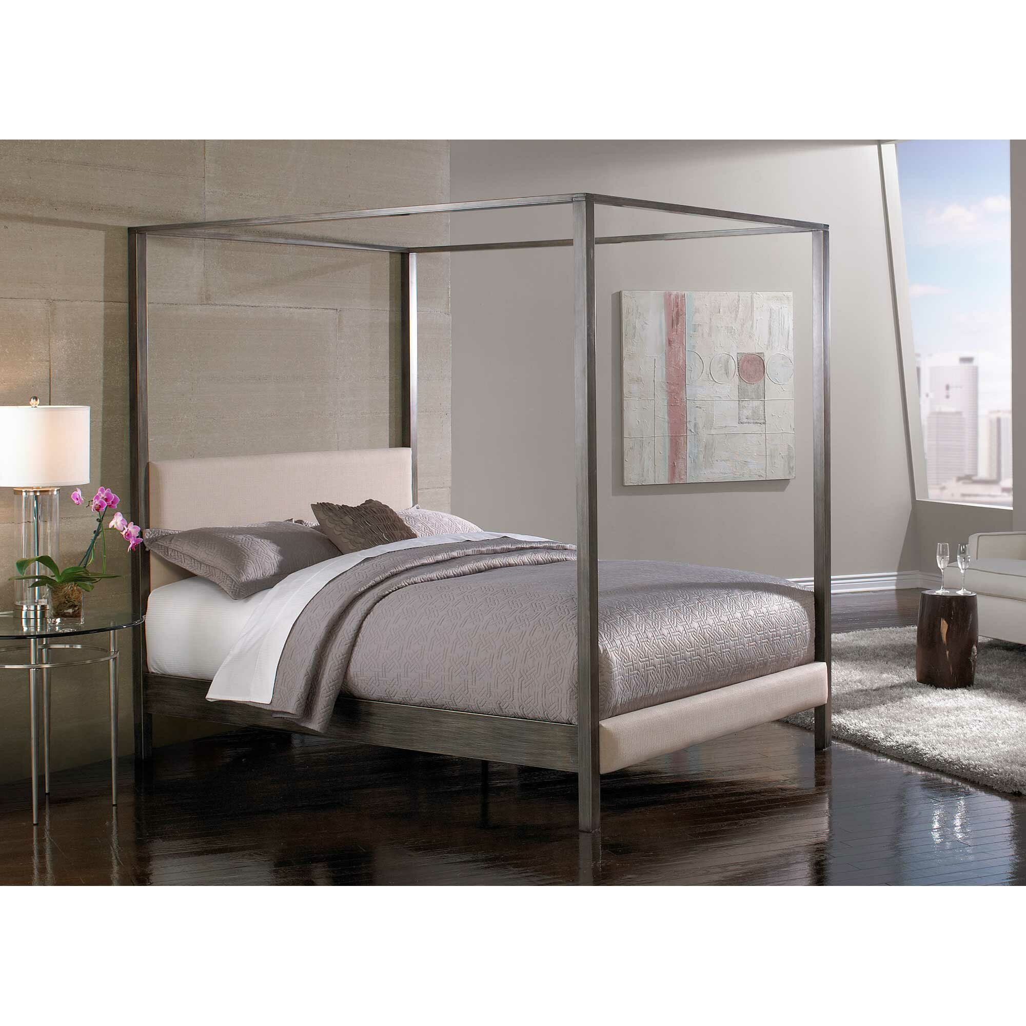 Canopy Beds You'll Love | Wayfair - Vurste Upholstered Canopy Bed
