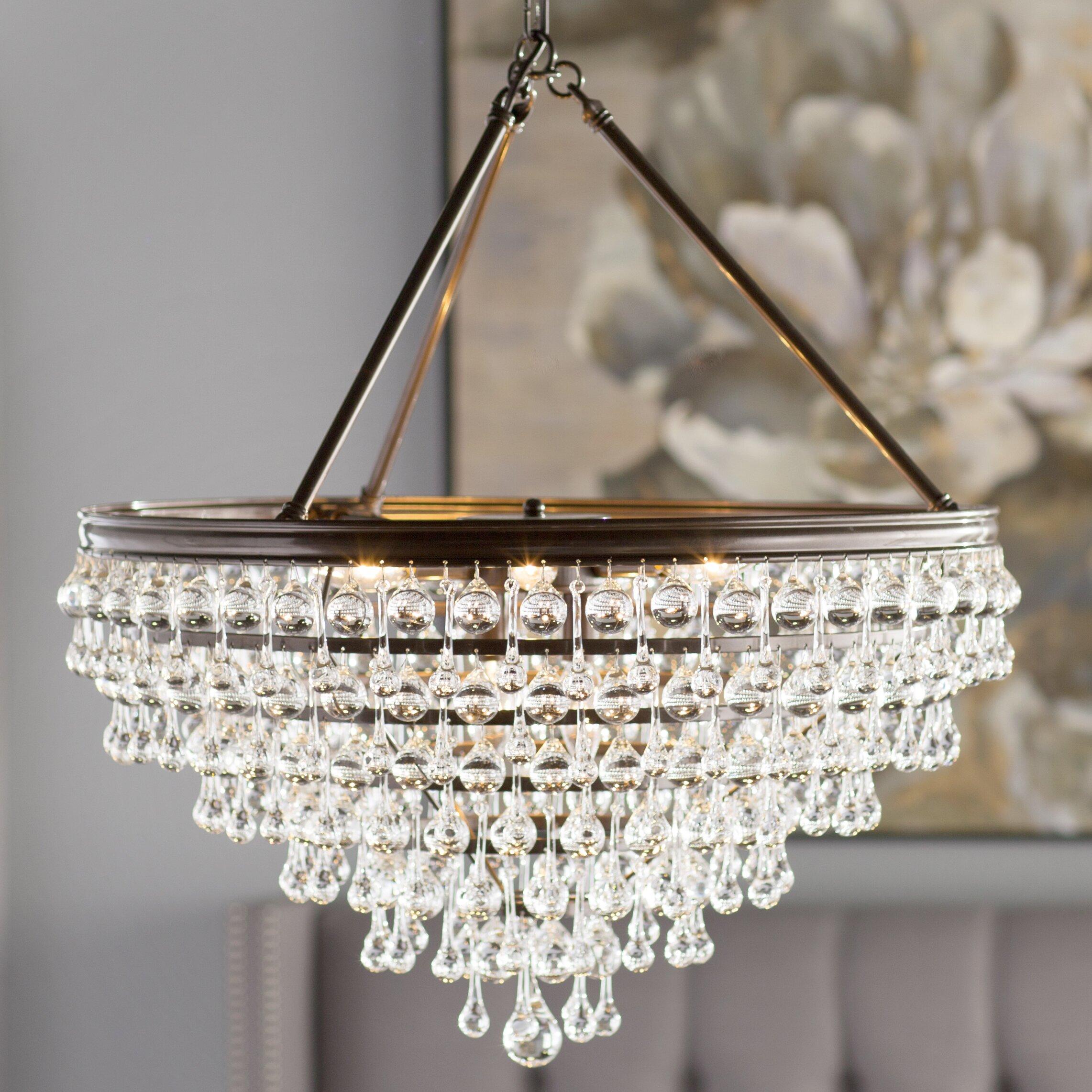 House of Hampton Robertville 8Light Crystal Chandelier Reviews – Crystal Chandelier Lights