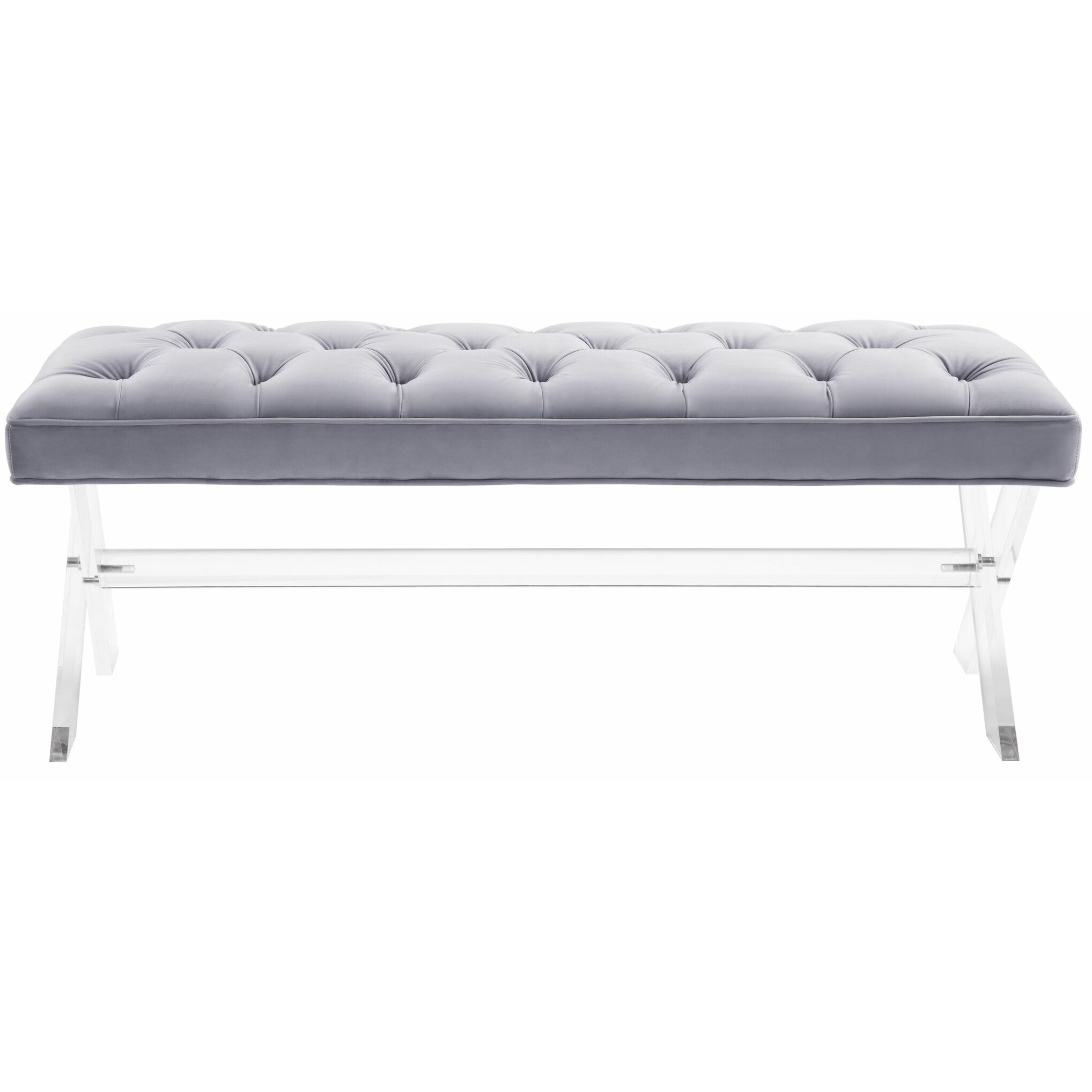 Bedroom bench dimensions - House Of Hampton Reg Southborough Upholstered Bedroom Bench