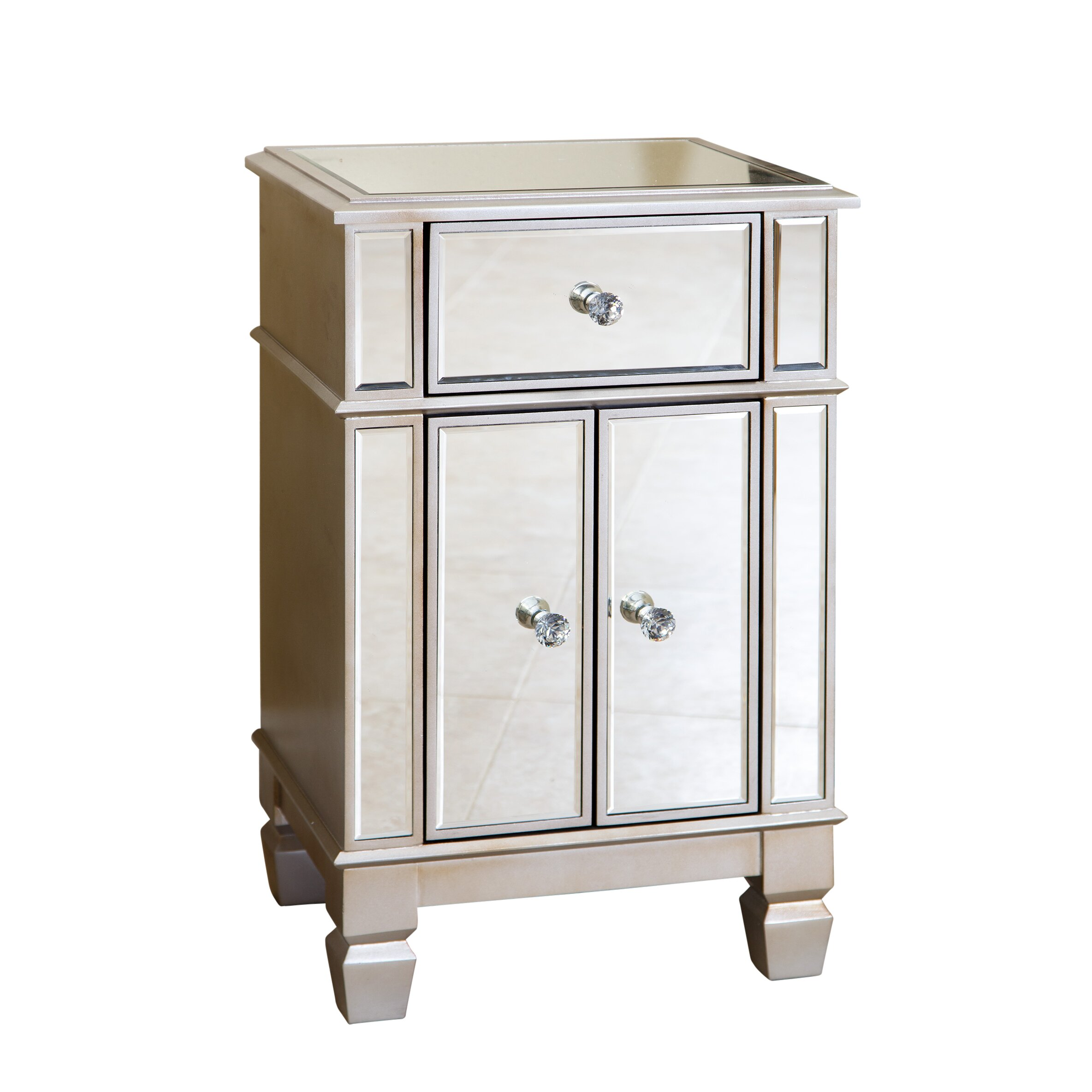 whitney mirrored accent chest  joss  main - house of hampton whitney mirrored accent chest