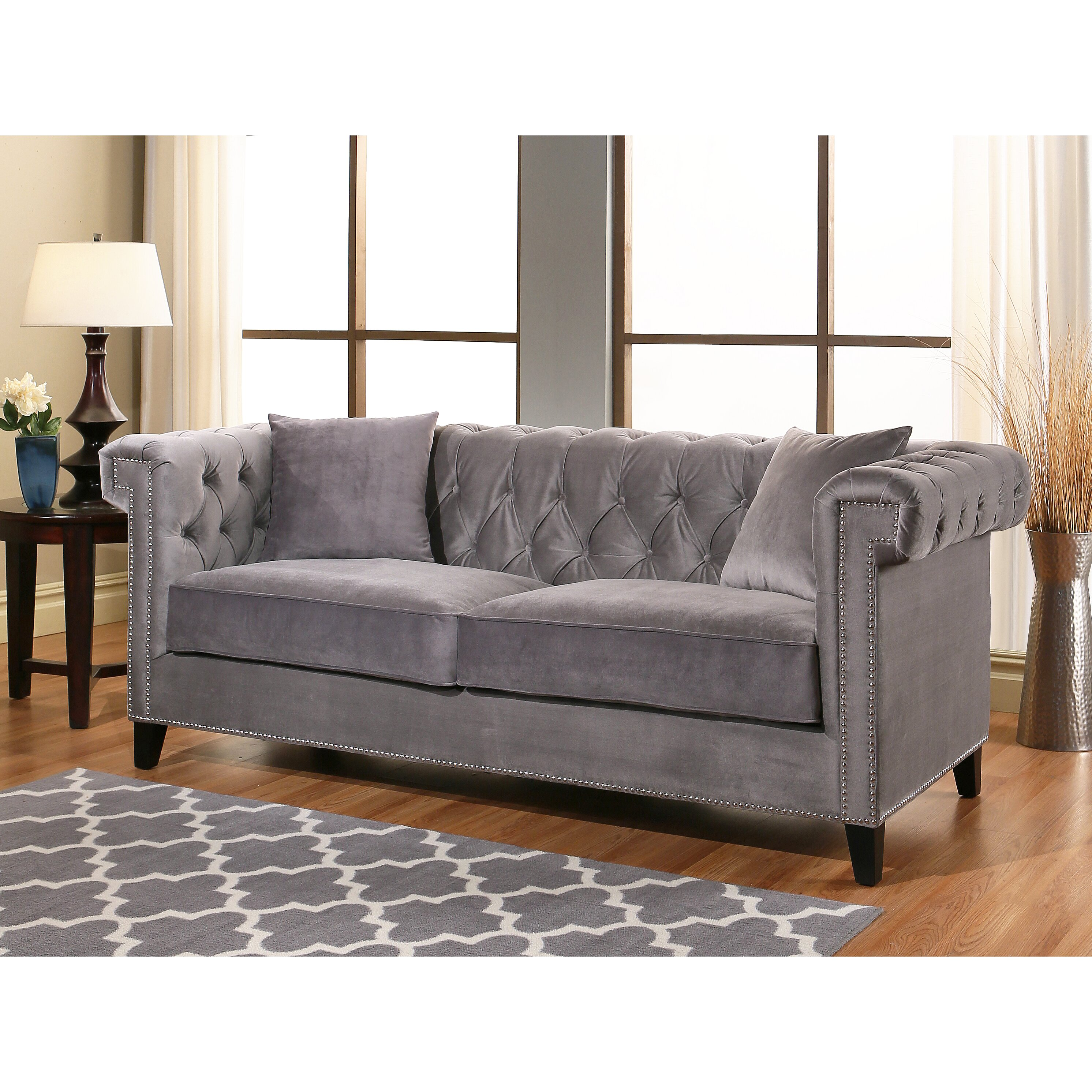 100 Armen Living Sofa Centerfieldbar Com Black