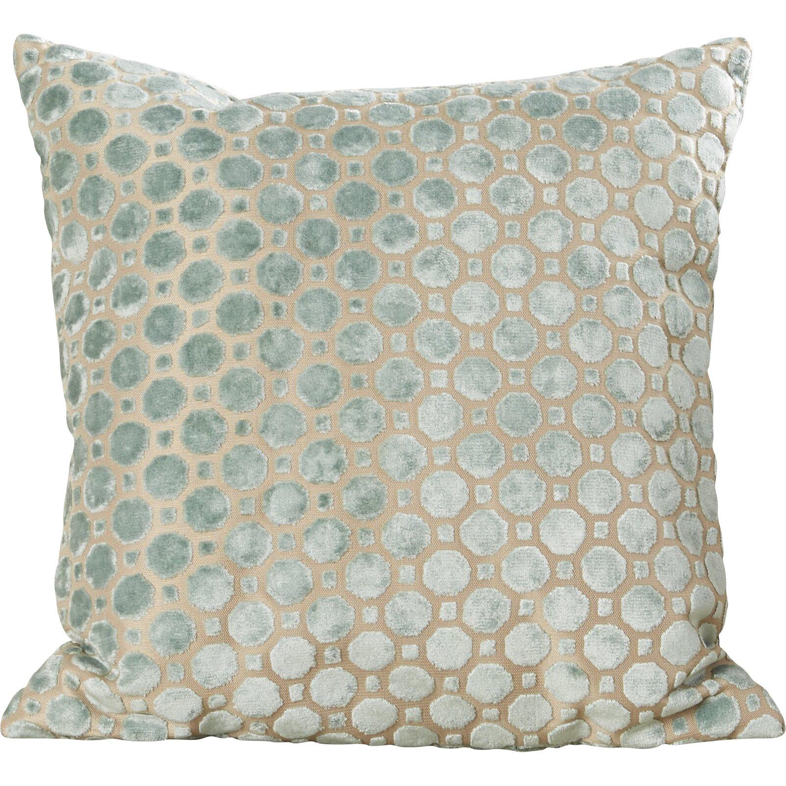 Brown and teal throw pillows - House Of Hampton Alton Geometric Velvet Throw Pillow