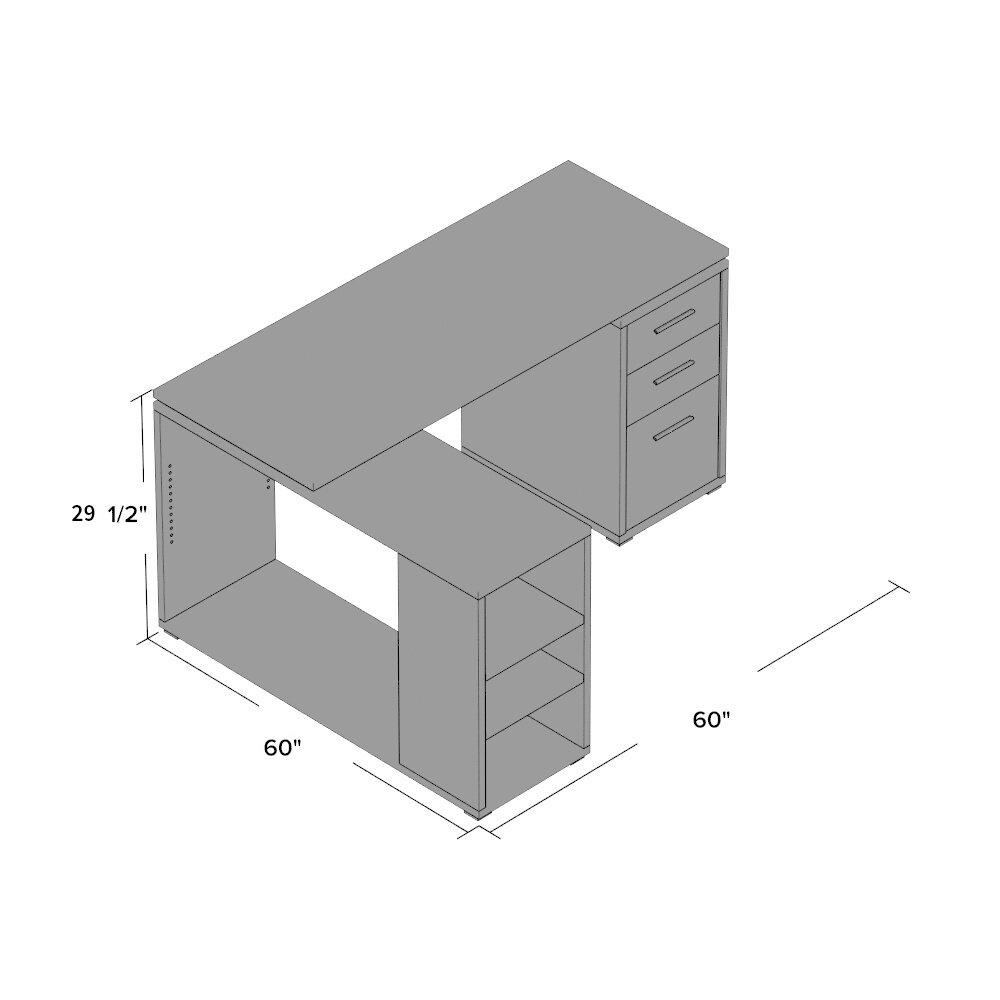 House Of Hampton Charisse L Shape Computer Desk Amp Reviews
