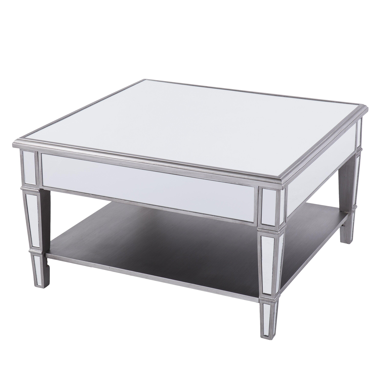 House Of Hampton Caspian Mirrored Square Coffee Table Reviews