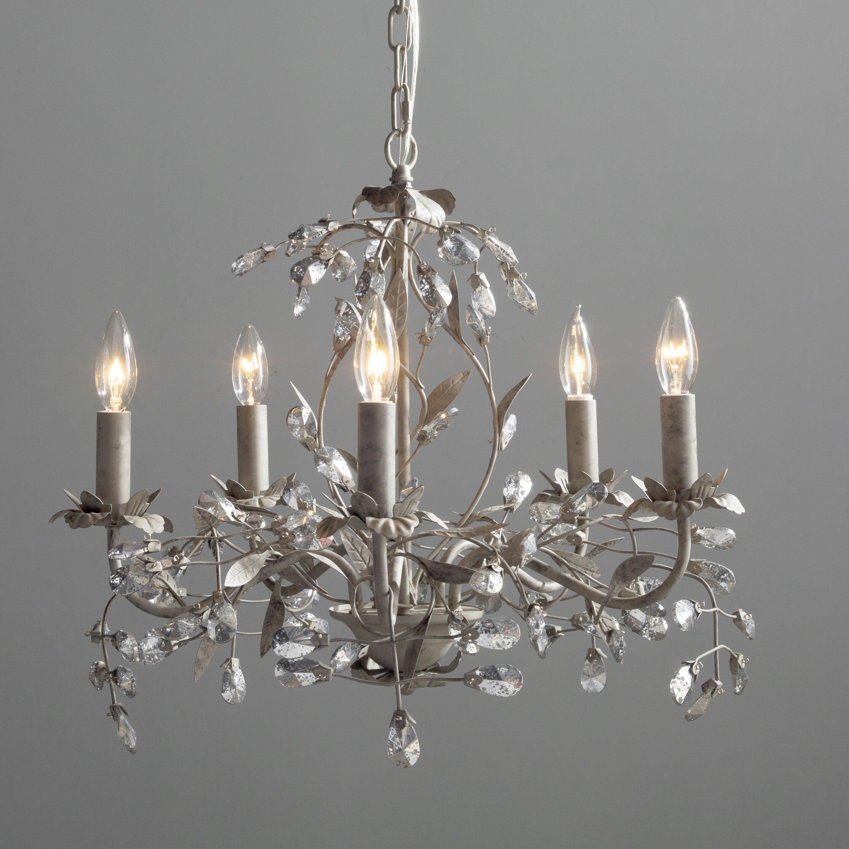 House of Hampton 5Light Crystal Chandelier Reviews – Crystal Chandelier Lights