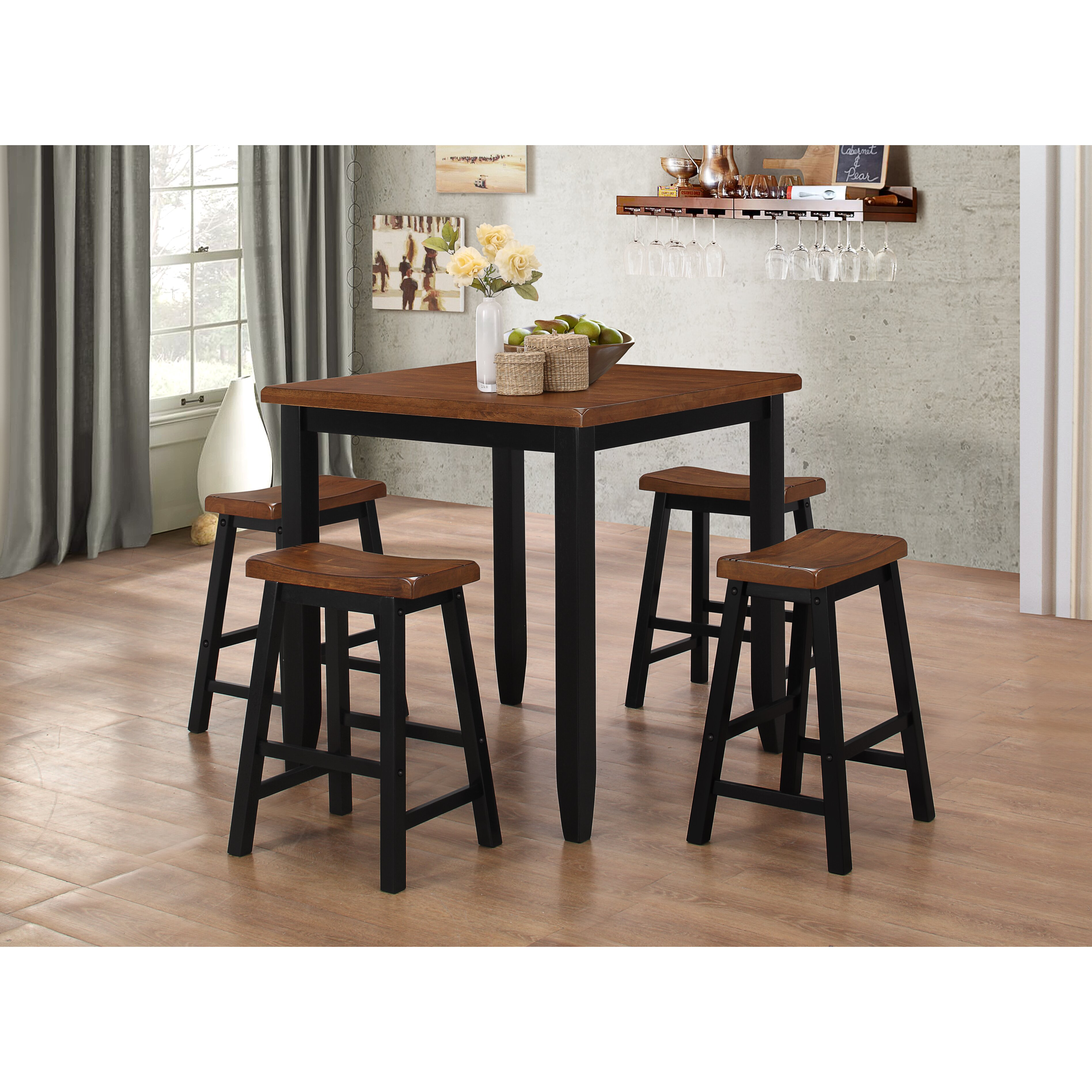 Counter Height Bistro Table Set Darby Home Co Simmons Casegoods Ruggerio 5 Piece Counter Height