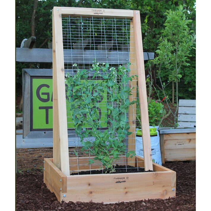 farmer d a frame wood lattice panel trellis