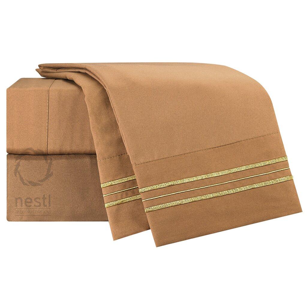 nestl bedding 1800 thread count sparrow bed sheet set reviews wayfair. Black Bedroom Furniture Sets. Home Design Ideas