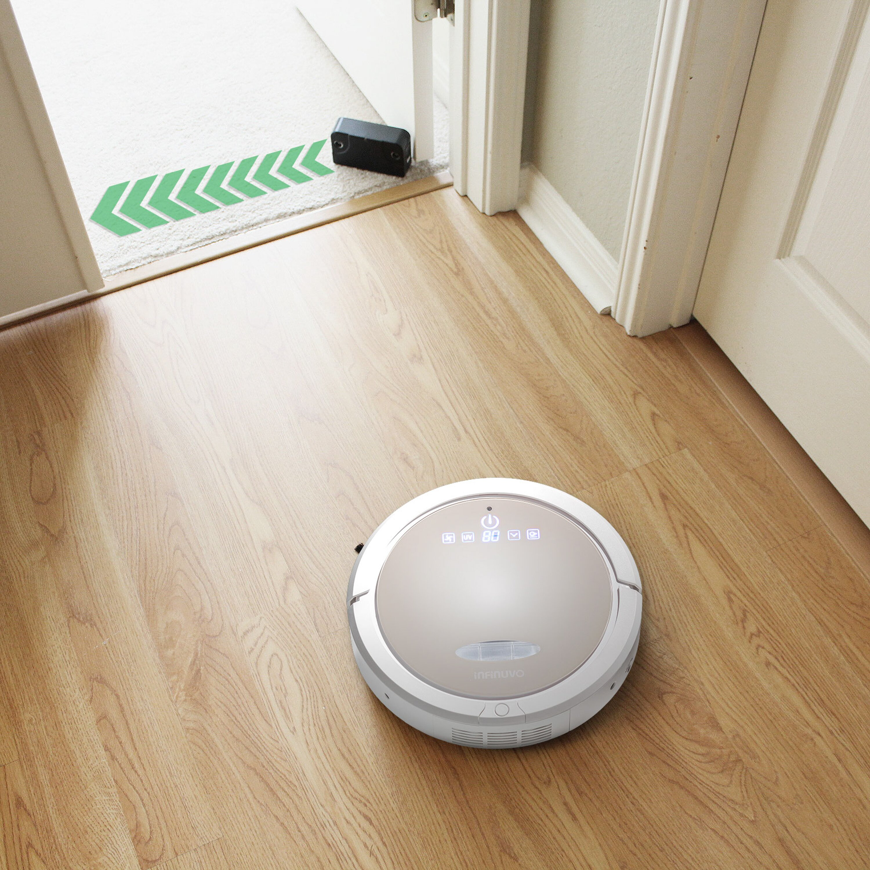 Dust mop for wood floors - Infinuvo 5 In 1 Robot Vacuum With Water Tank Dry And Wet Floor Cleaner
