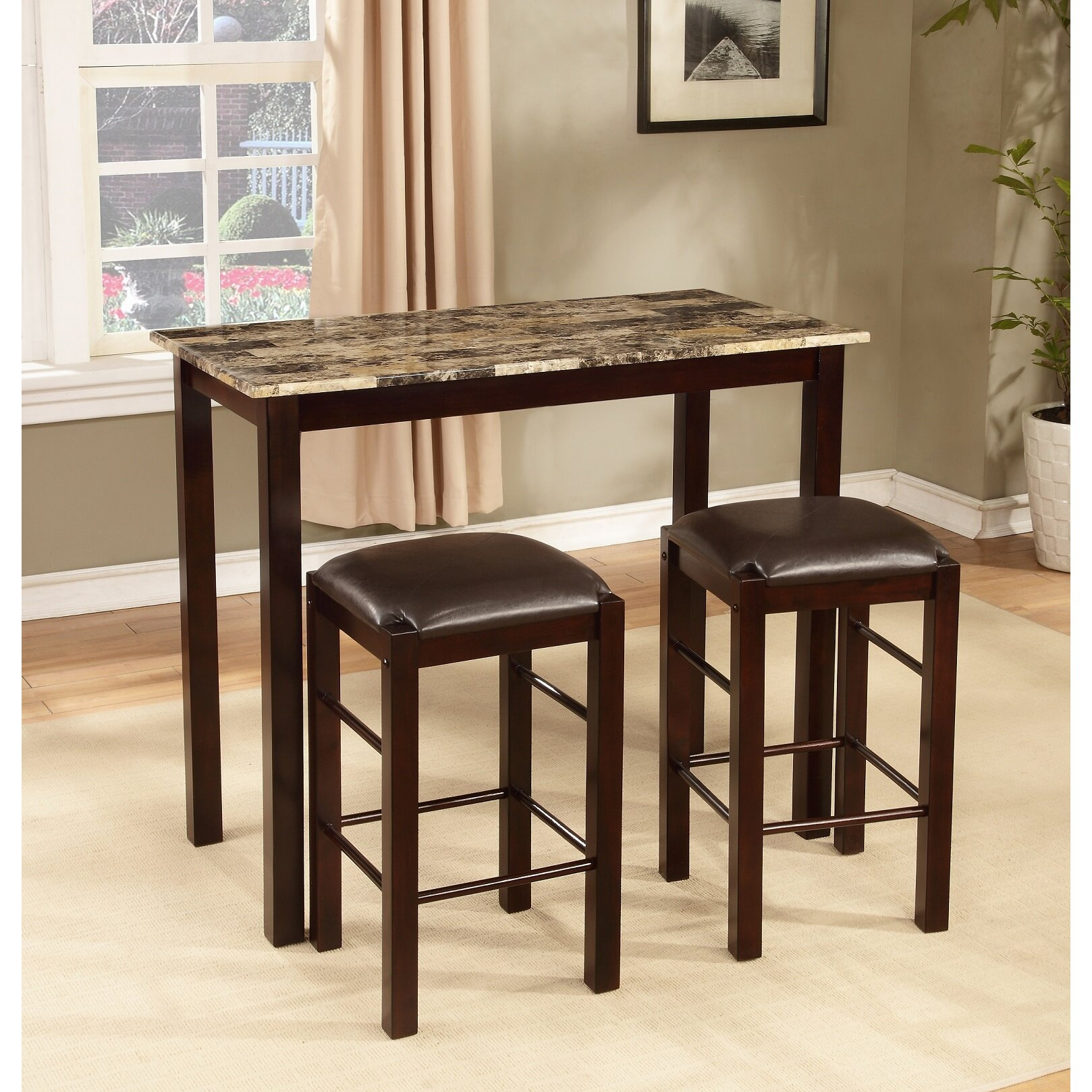 counter height dining sets c counter height kitchen chairs Brando 3 Piece Counter Height Dining Set