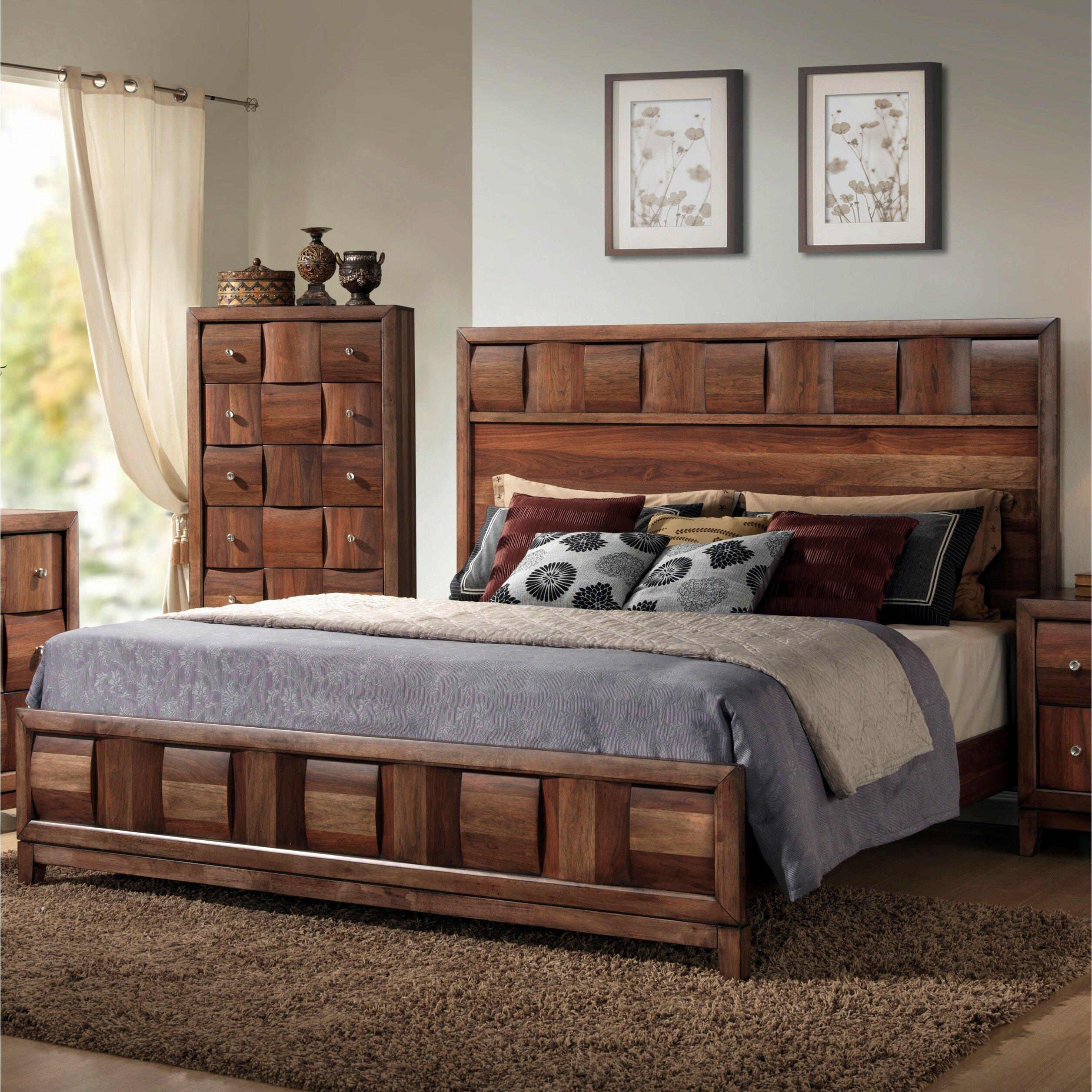roundhill furniture calais panel bed & reviews | wayfair