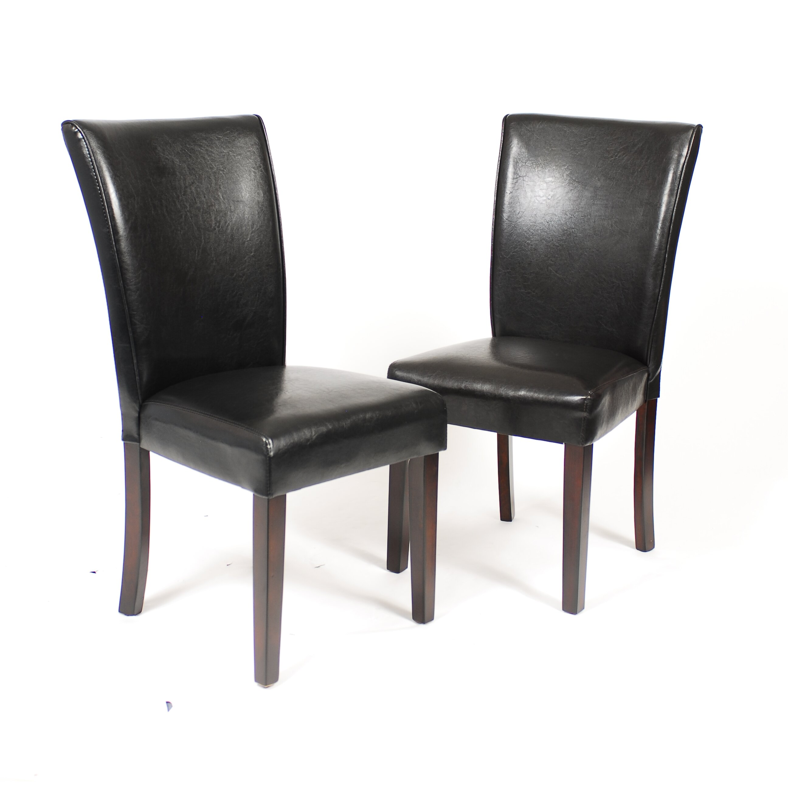Roundhill Furniture Black Leatherette Parson Chair
