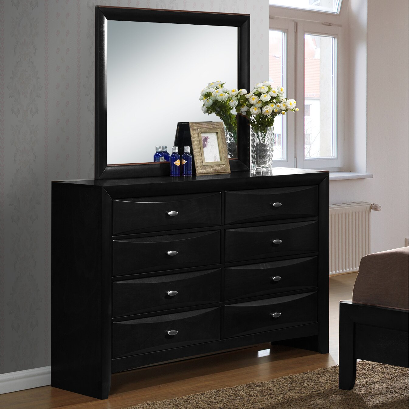 Wayfair Com Furniture: Roundhill Furniture Blemerey 4 Piece Bedroom Set