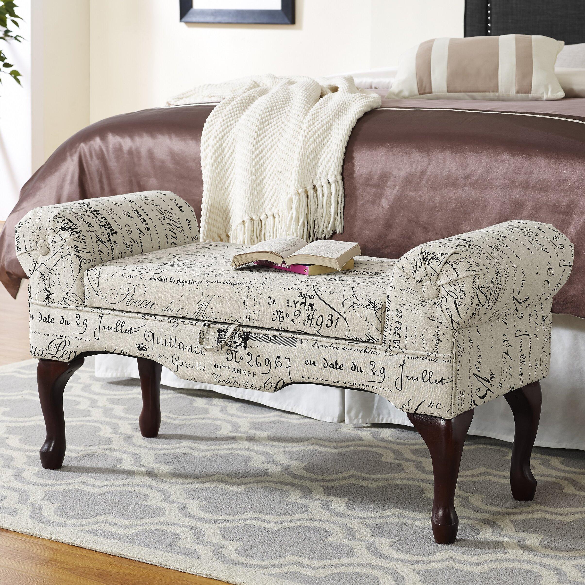 Padded Bench For Bedroom Roundhill Furniture Lilion Upholstered Storage Bedroom Bench