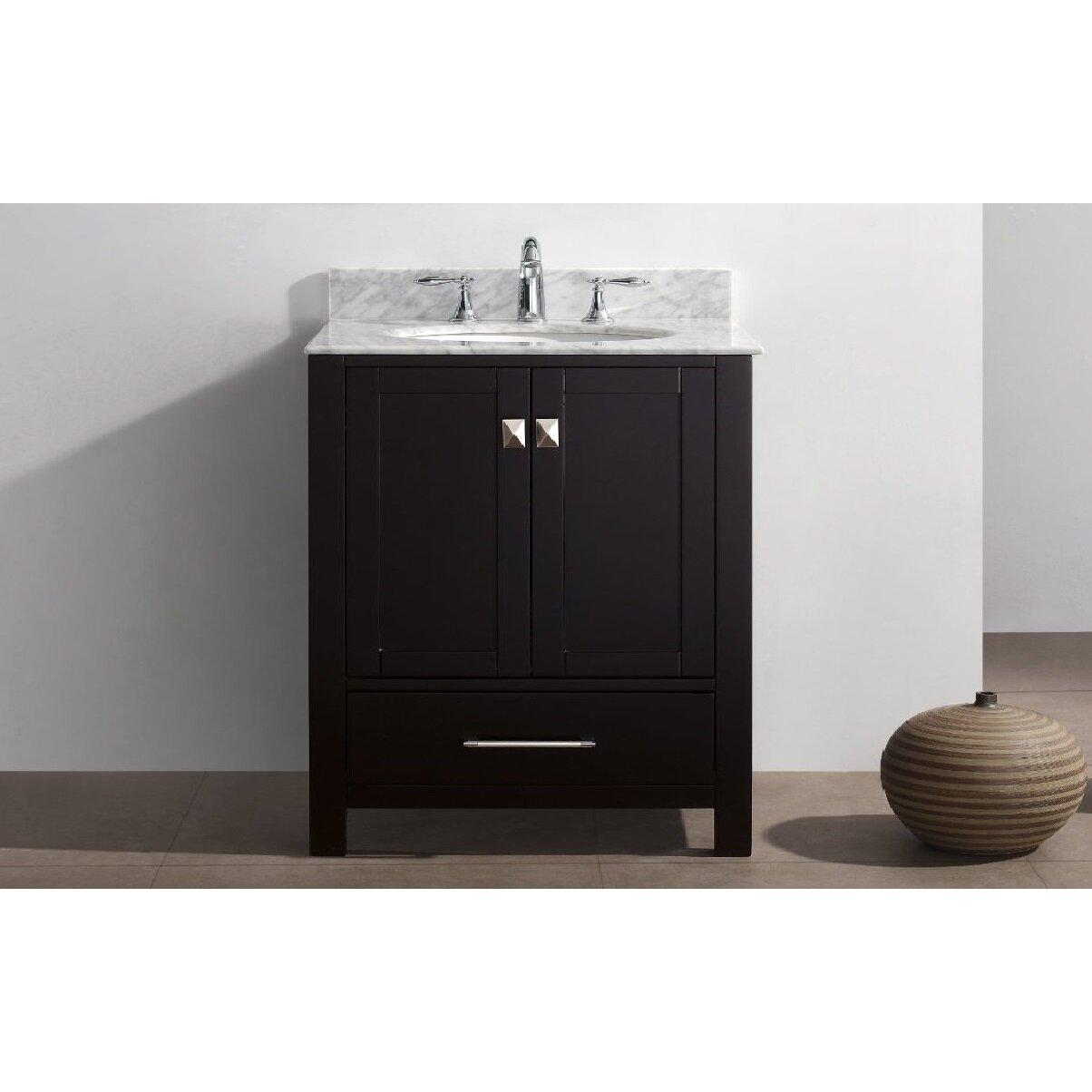 Just Cabinets Aberdeen Eviva Aberdeen 30 Single Bathroom Vanity Set Wayfair