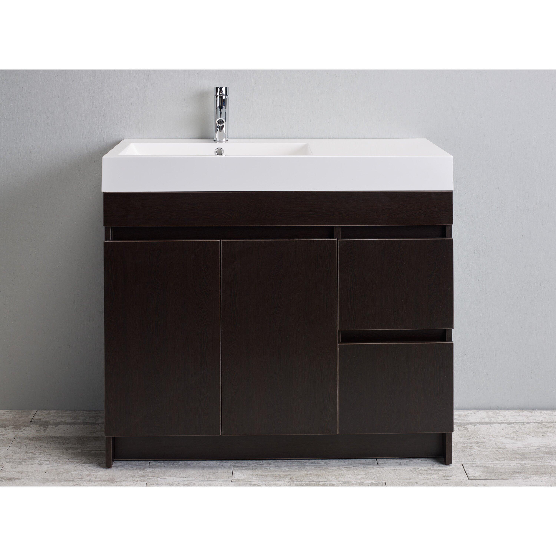 39 Bathroom Vanity Beachar 39 Single Bathroom Vanity Set Allmodern