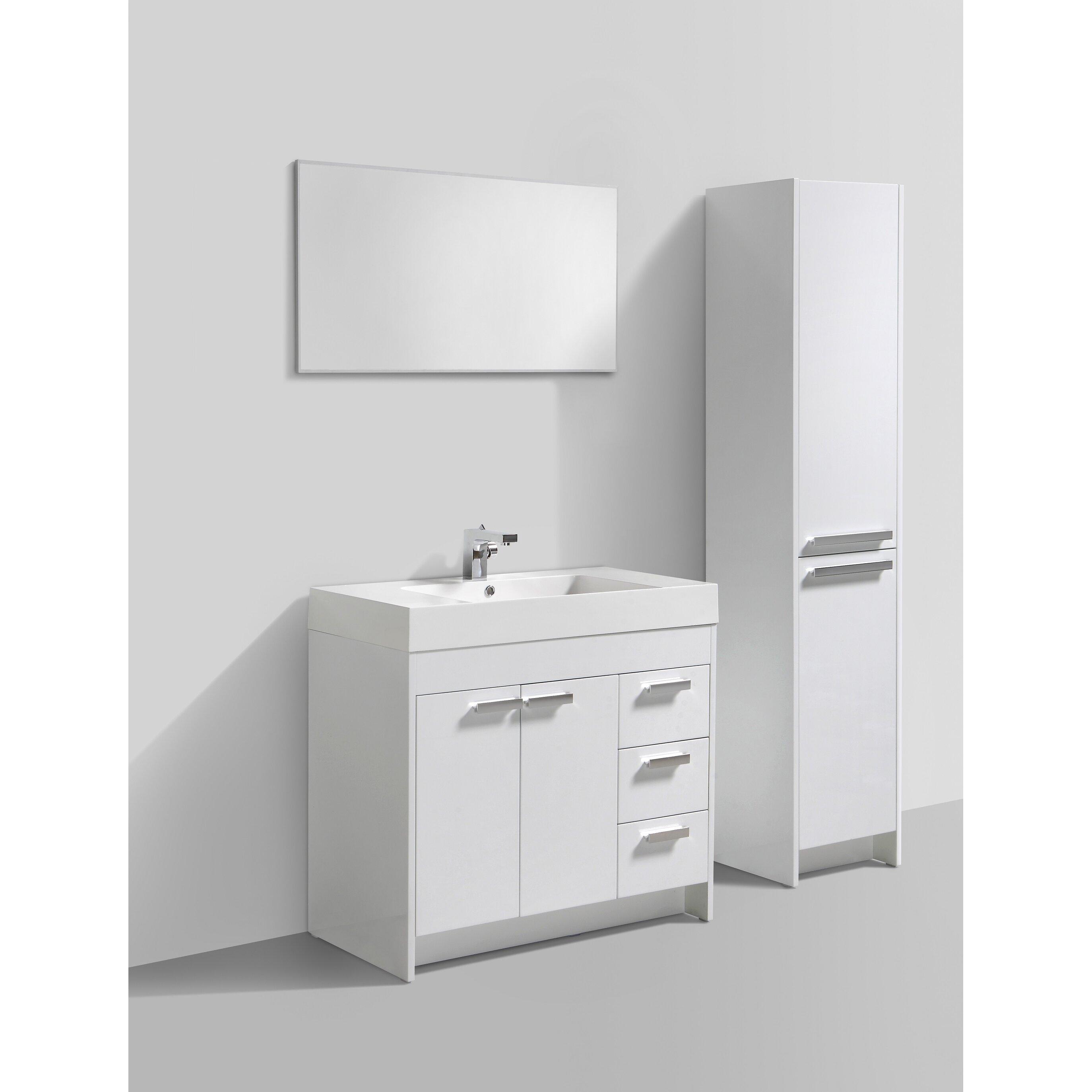 Bathroom Vanity Set Eviva Lugano 36 Single Bathroom Vanity Set Reviews Wayfair