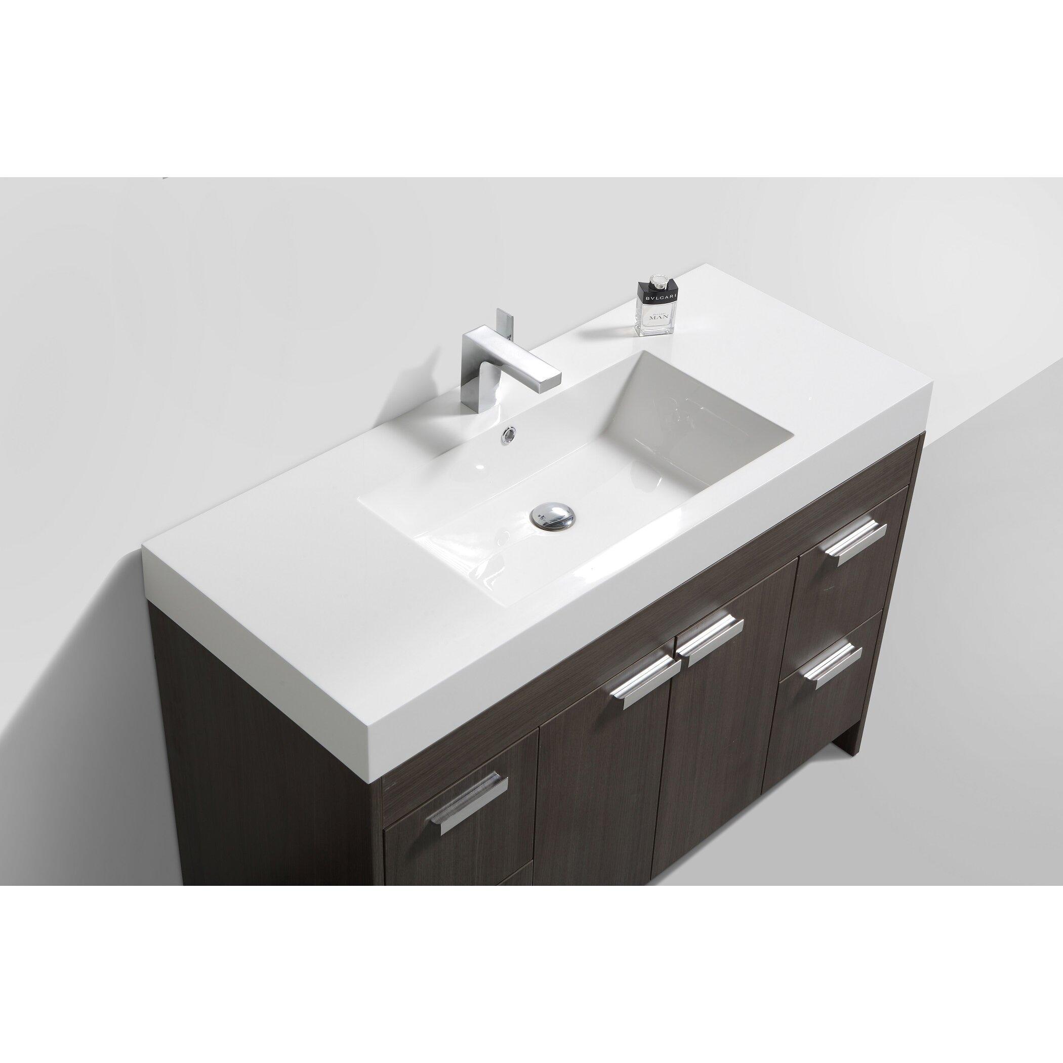 Bathroom Vanities Woodbridge Eviva Lugano 48 Single Bathroom Vanity Set Reviews Wayfair