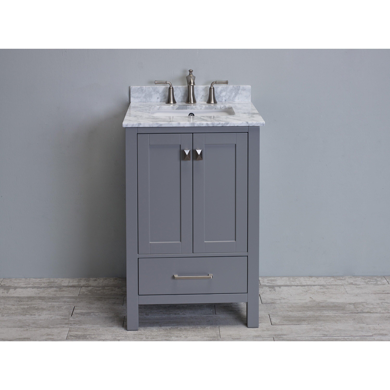 eviva aberdeen 24 transitional single bathroom vanity set