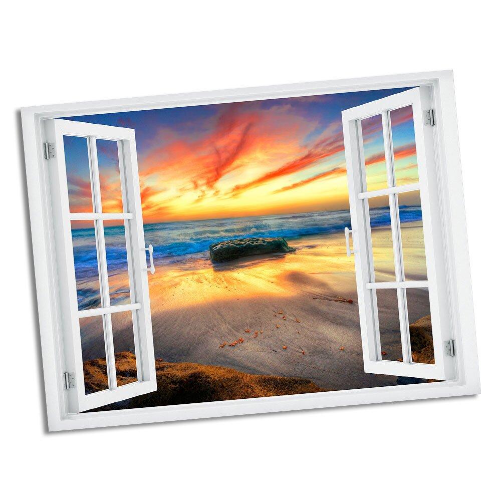 Picture it on Canvas La Jolla Sunset Paradise Window Art