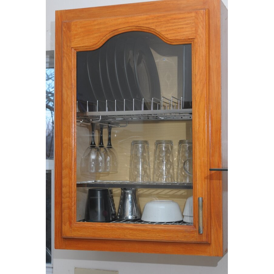 Dish Display Cabinet Zojila Cabana In Cabinet Dish Drying And Storage Rack Reviews