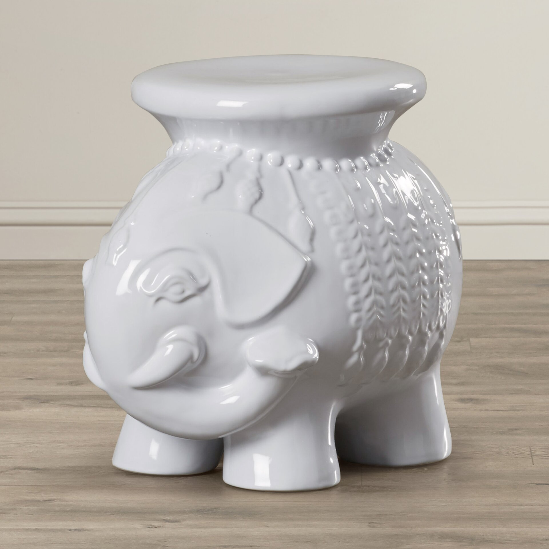 Bungalow Rose Santa Elephant Garden Stool Reviews Wayfairca
