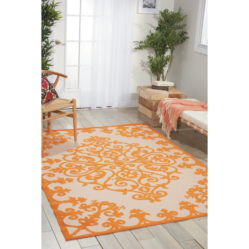 Bungalow Rose agna Orange Indoor Outdoor Area Rug