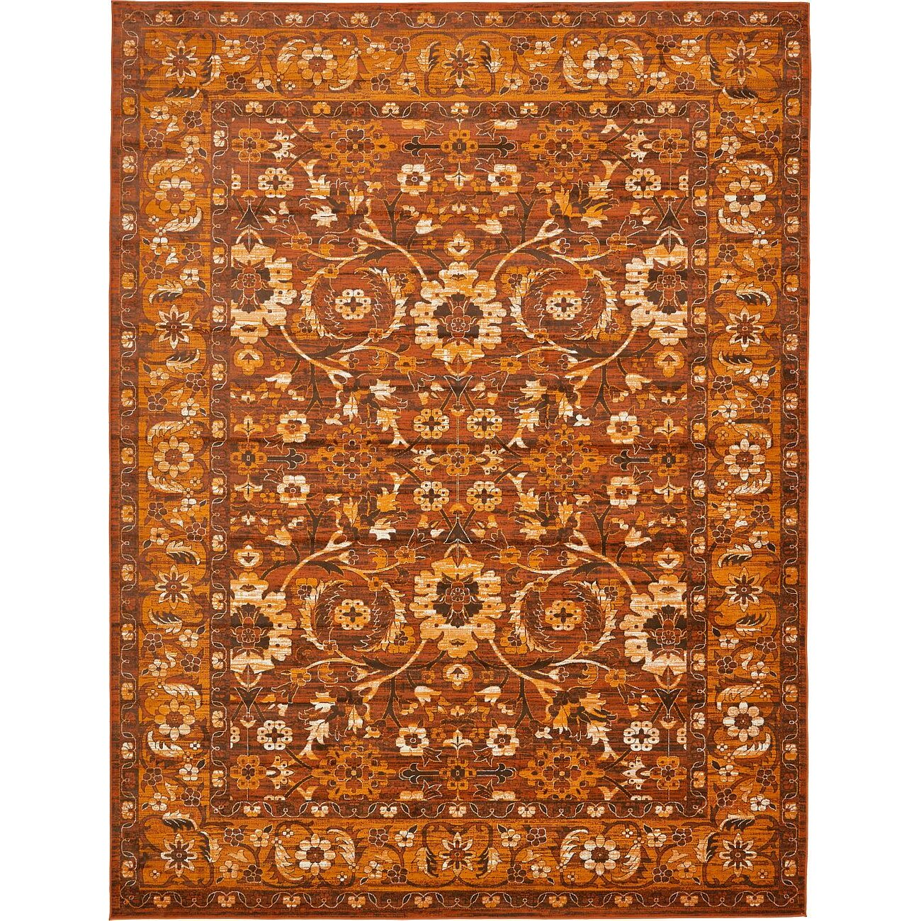 Orange And Brown Area Rug Home Decor