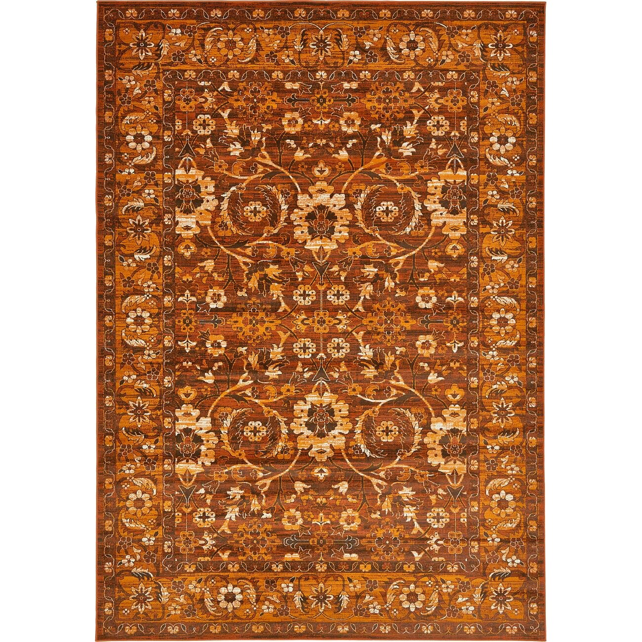 Orange And Brown Area Rugs Home Decor