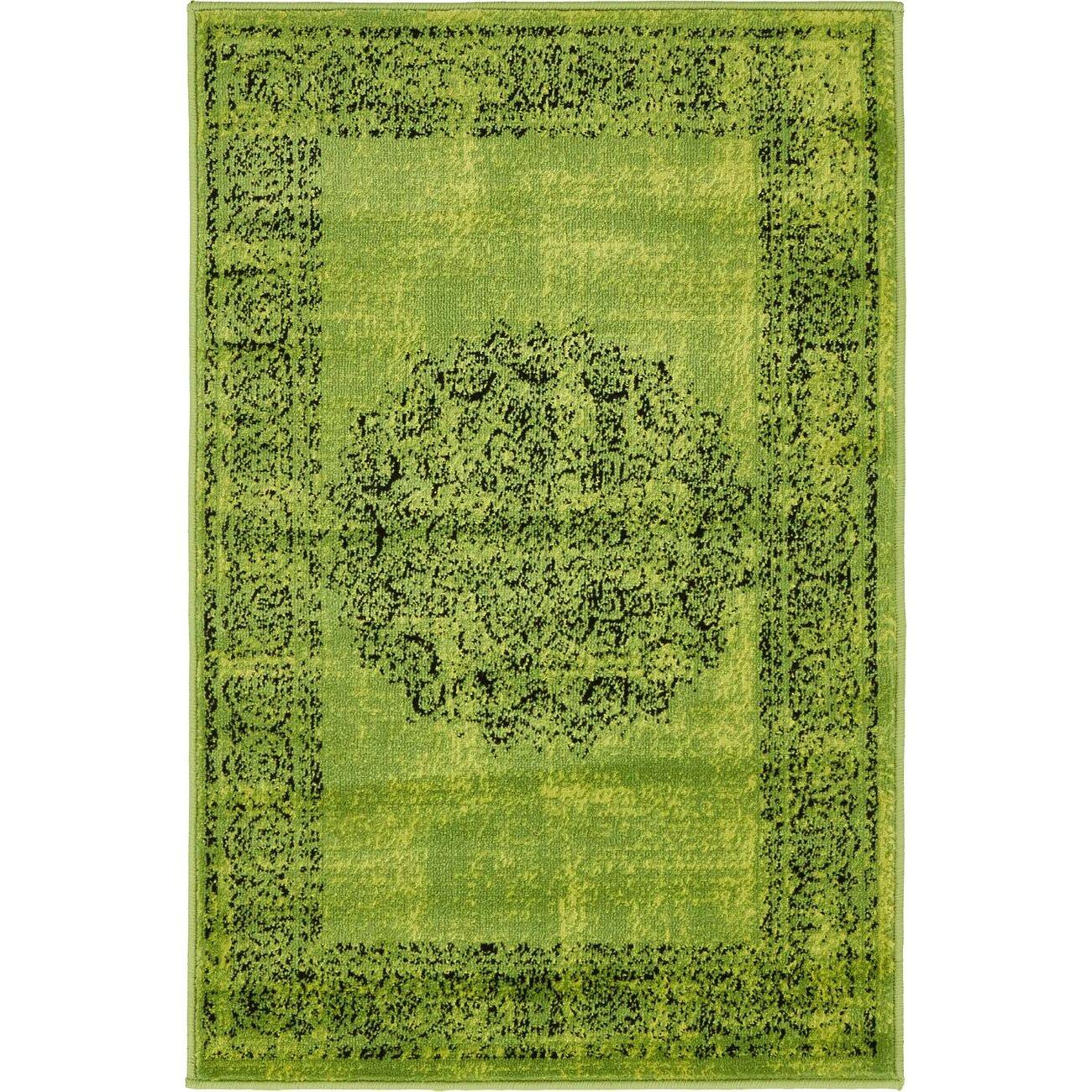 bungalow rose yareli sage green black area rug reviews. Black Bedroom Furniture Sets. Home Design Ideas