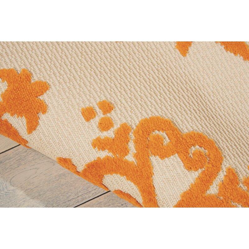 Bungalow Rose agna Orange Indoor Outdoor Area Rug