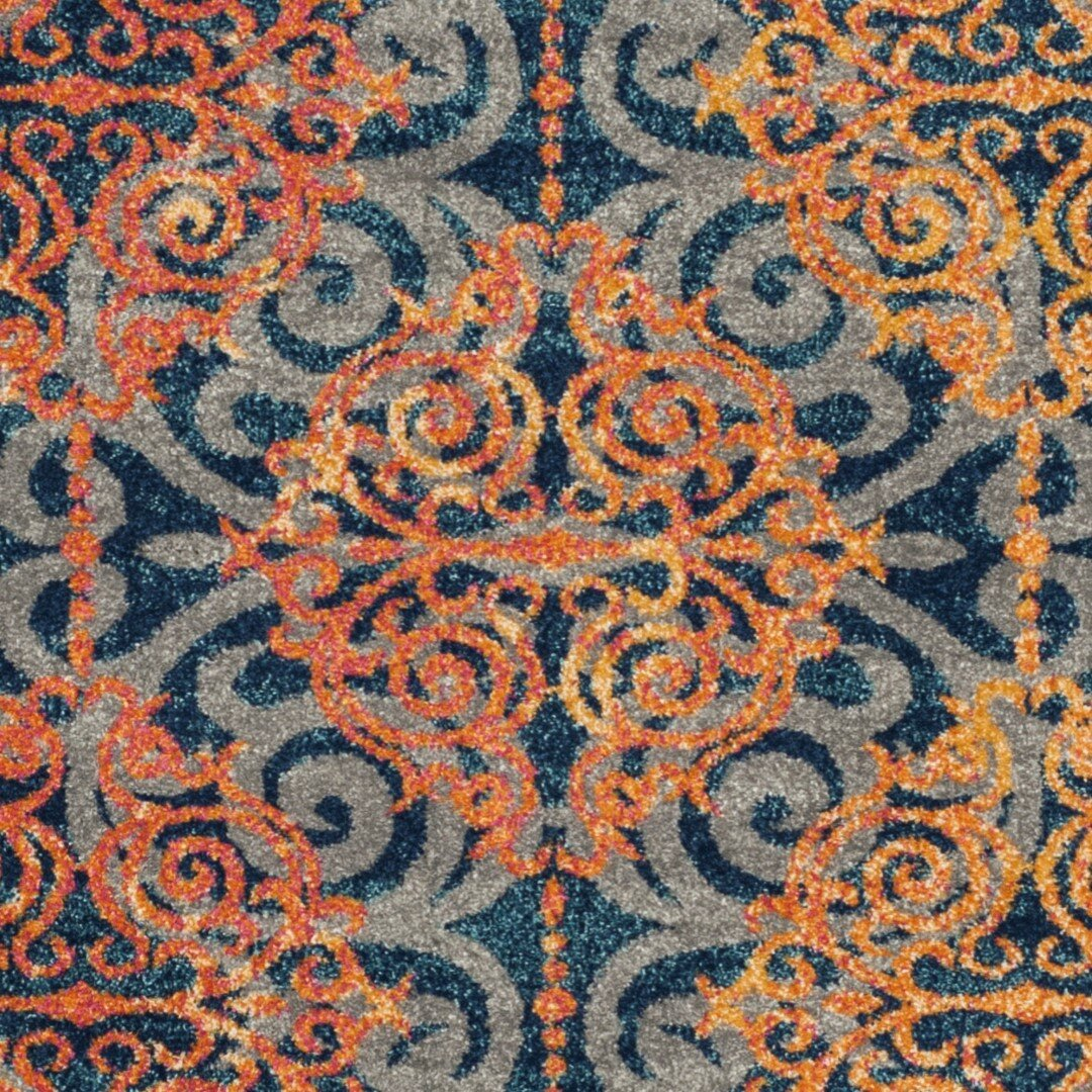 Orange And Blue Area Rugs Rugs Ideas