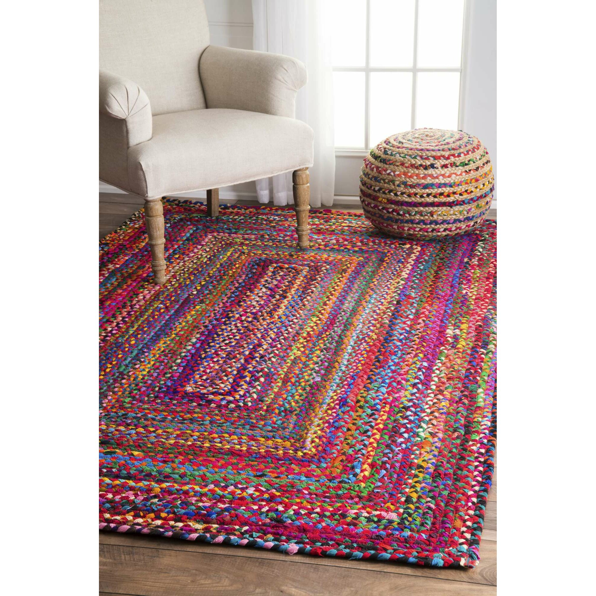 Bungalow Rose Khan Hand-Braided Area Rug & Reviews