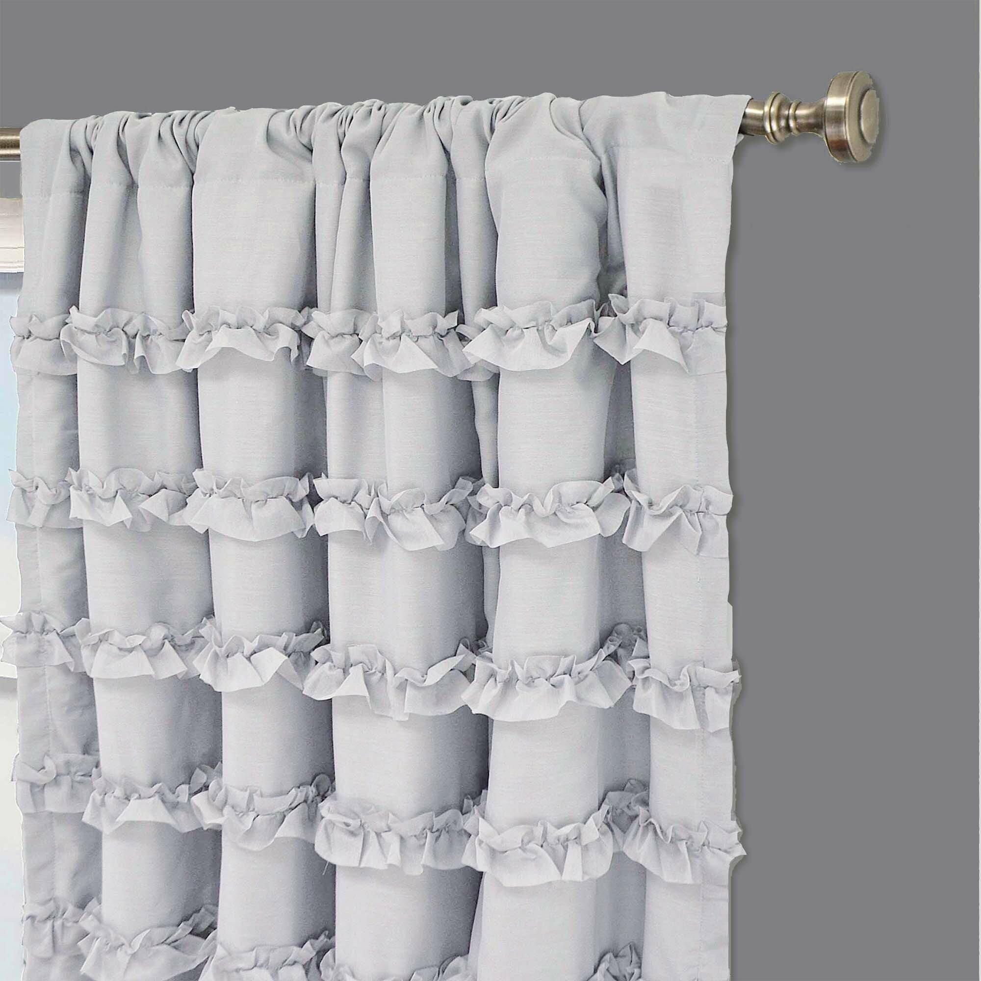 Ruffle curtains - Viv Rae Rayna Ruffle Blackout Single Curtain Panel