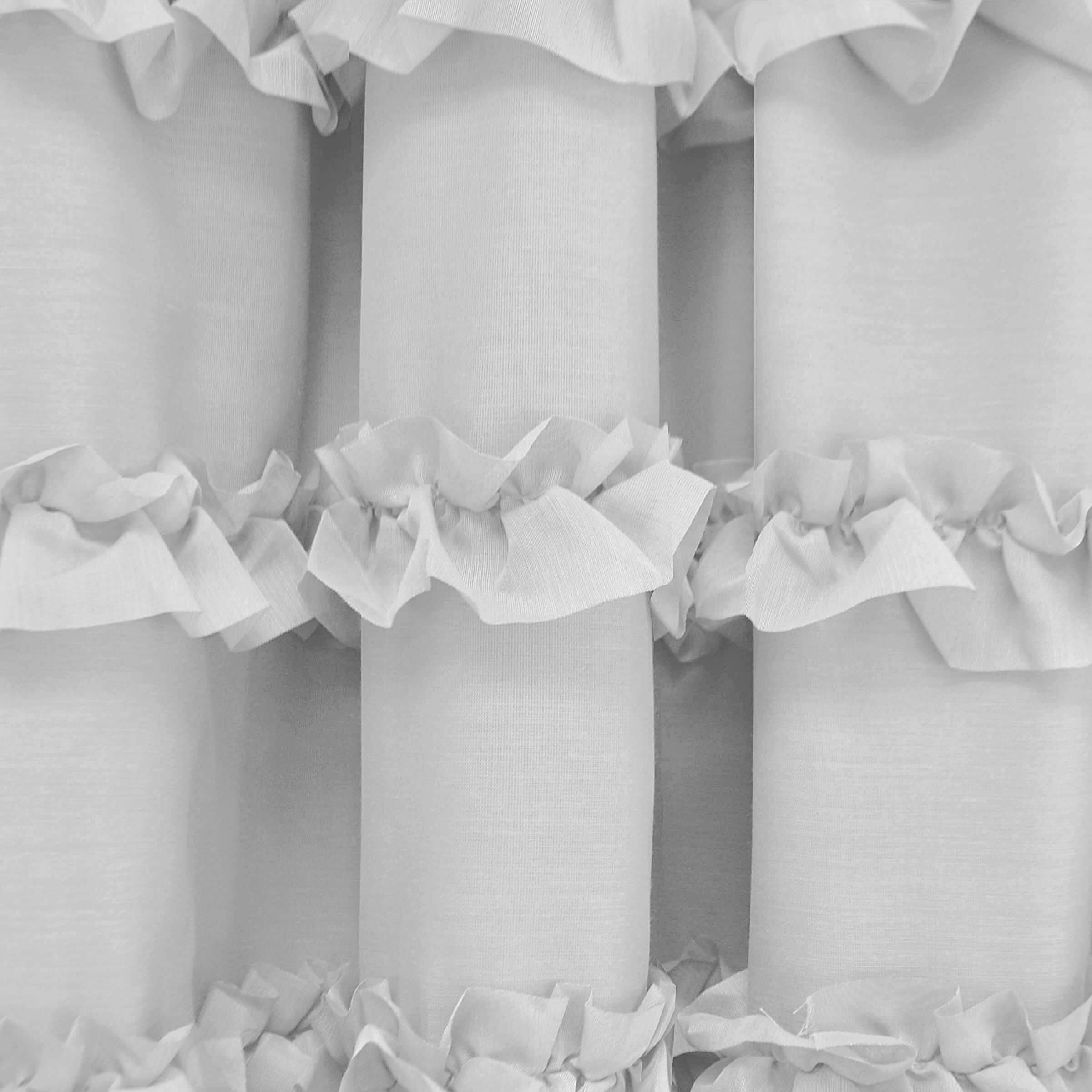 Black ruffle curtains - Black Ruffle Curtains Viv Rae Trade Rayna Ruffle Blackout Single Curtain Panel