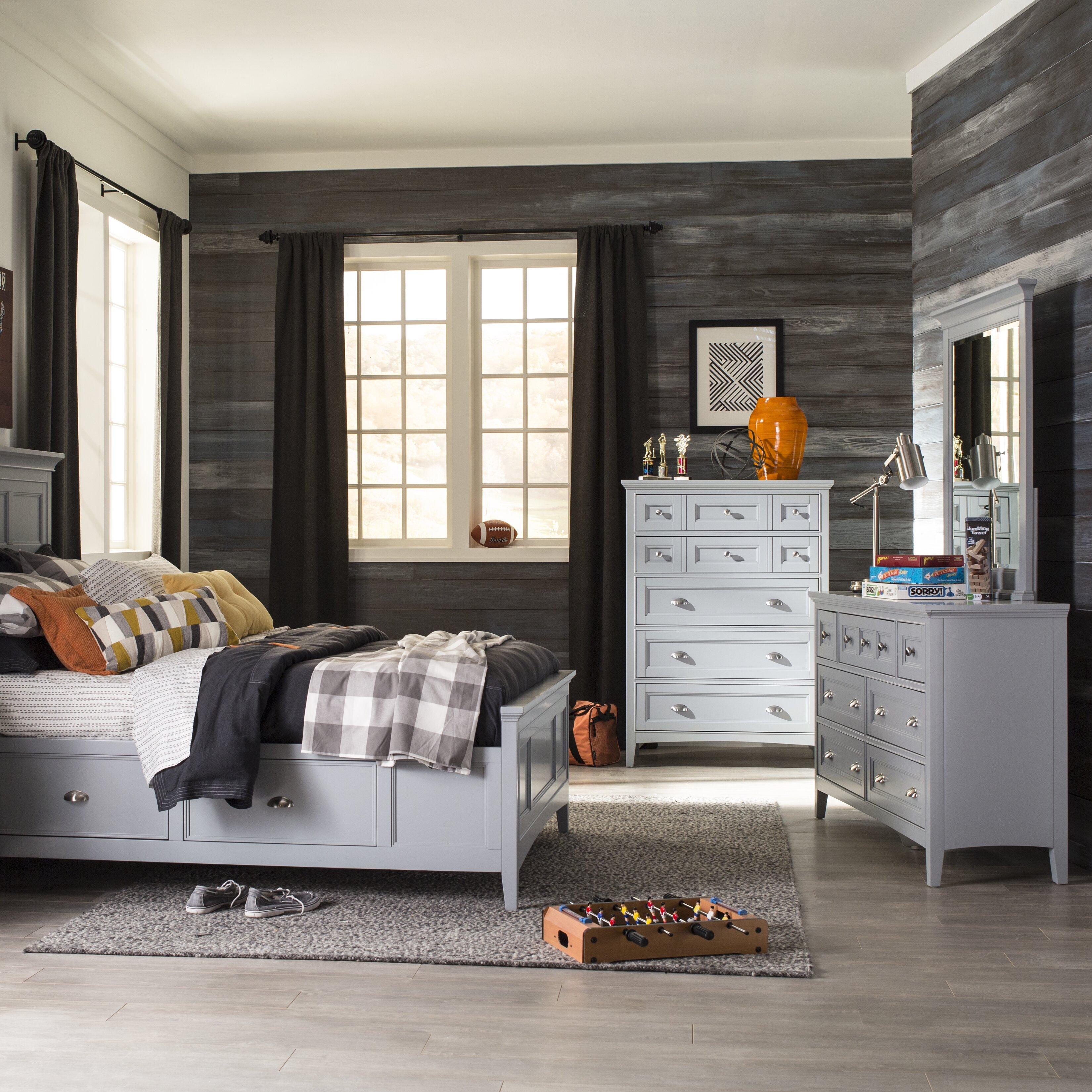 classic traditional walnut brown 6piece king bedroom set sev
