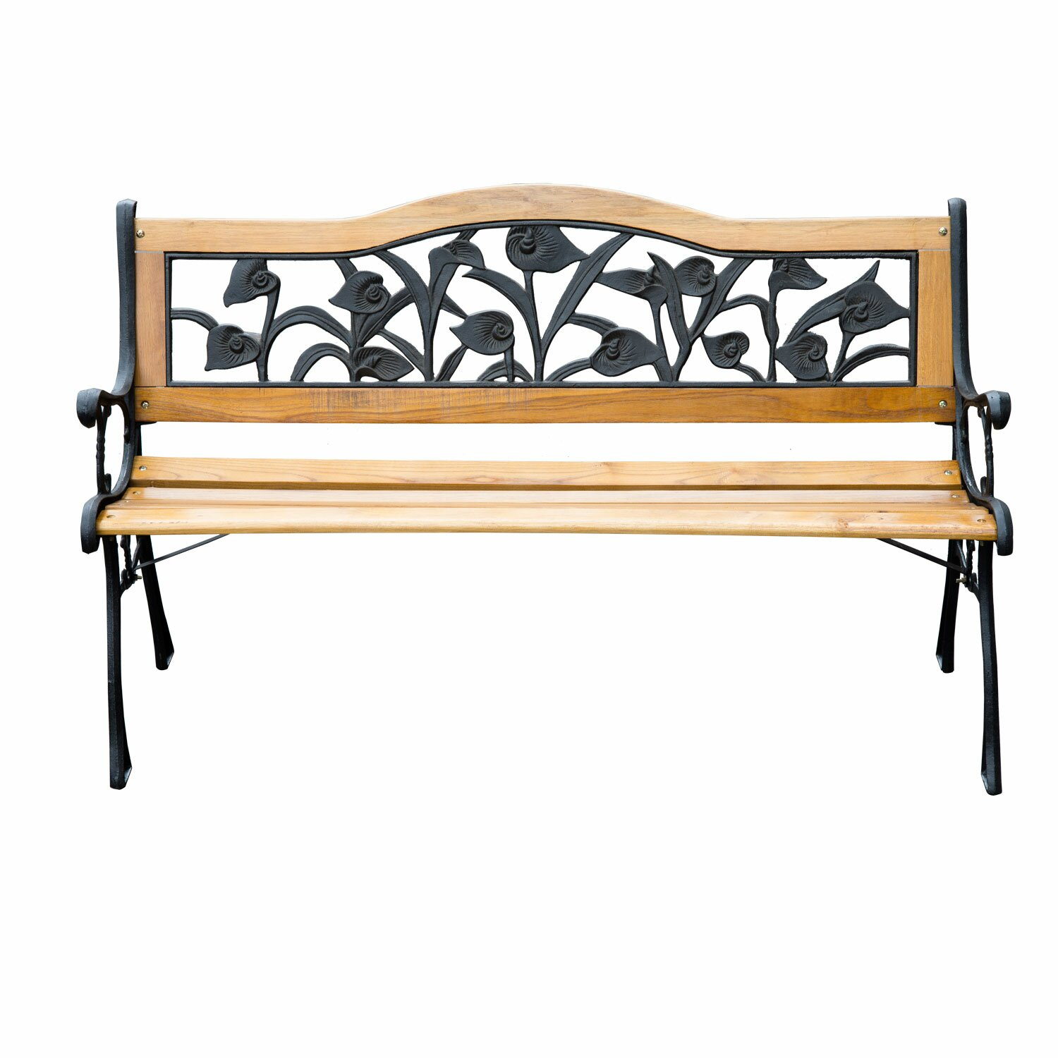 Outsunny Floral Outdoor Metal Park Bench Reviews – Outdoor Iron Bench